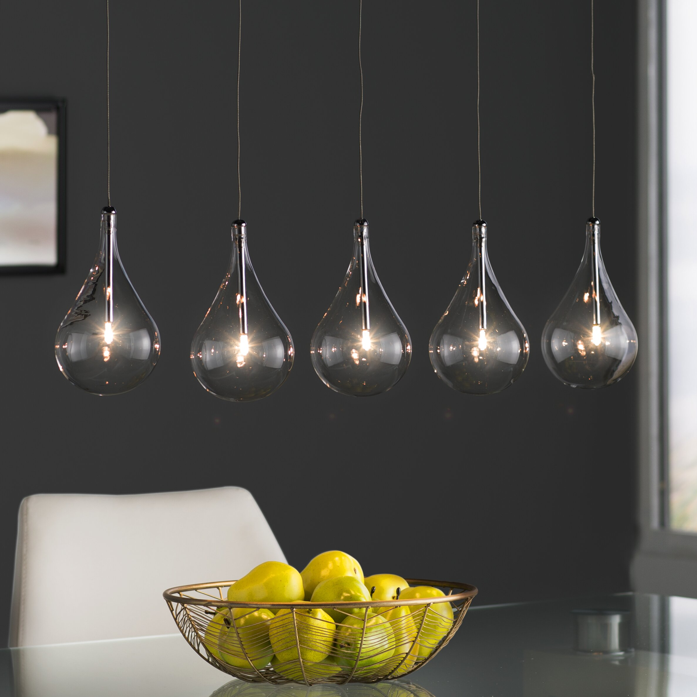 Kitchen Island Pendant Lighting: Wade Logan Neal 5 Light Kitchen Island Pendant & Reviews
