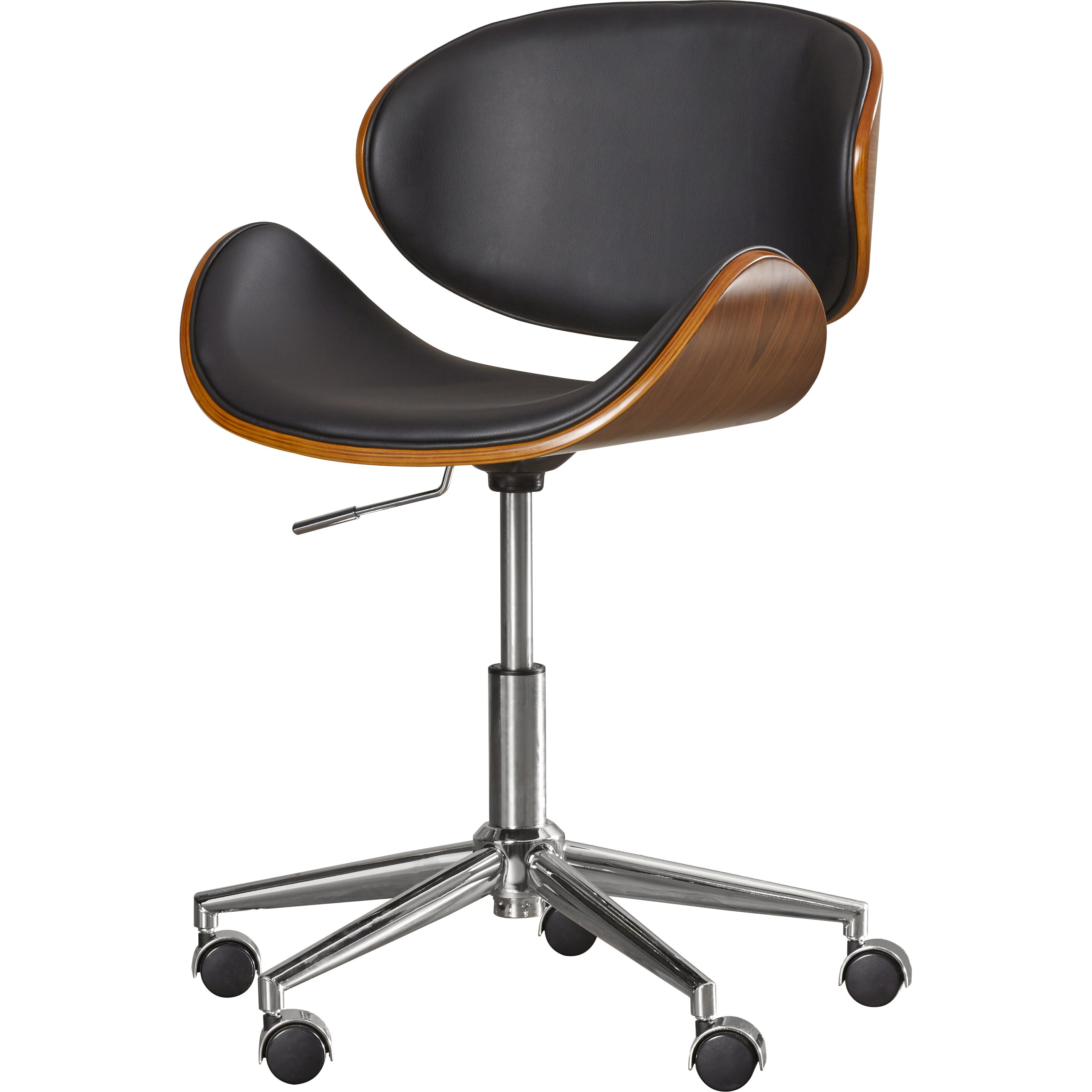 enzo mid back leather office chair by wade logan