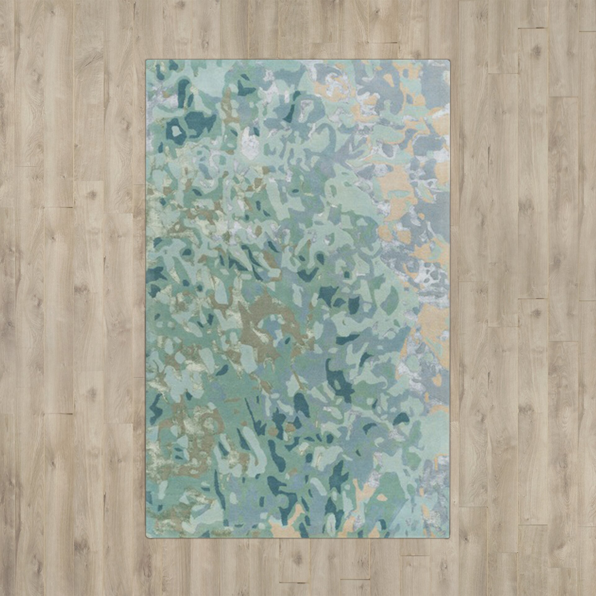 Wade Logan Murillo Sea Foam Teal Area Rug Amp Reviews