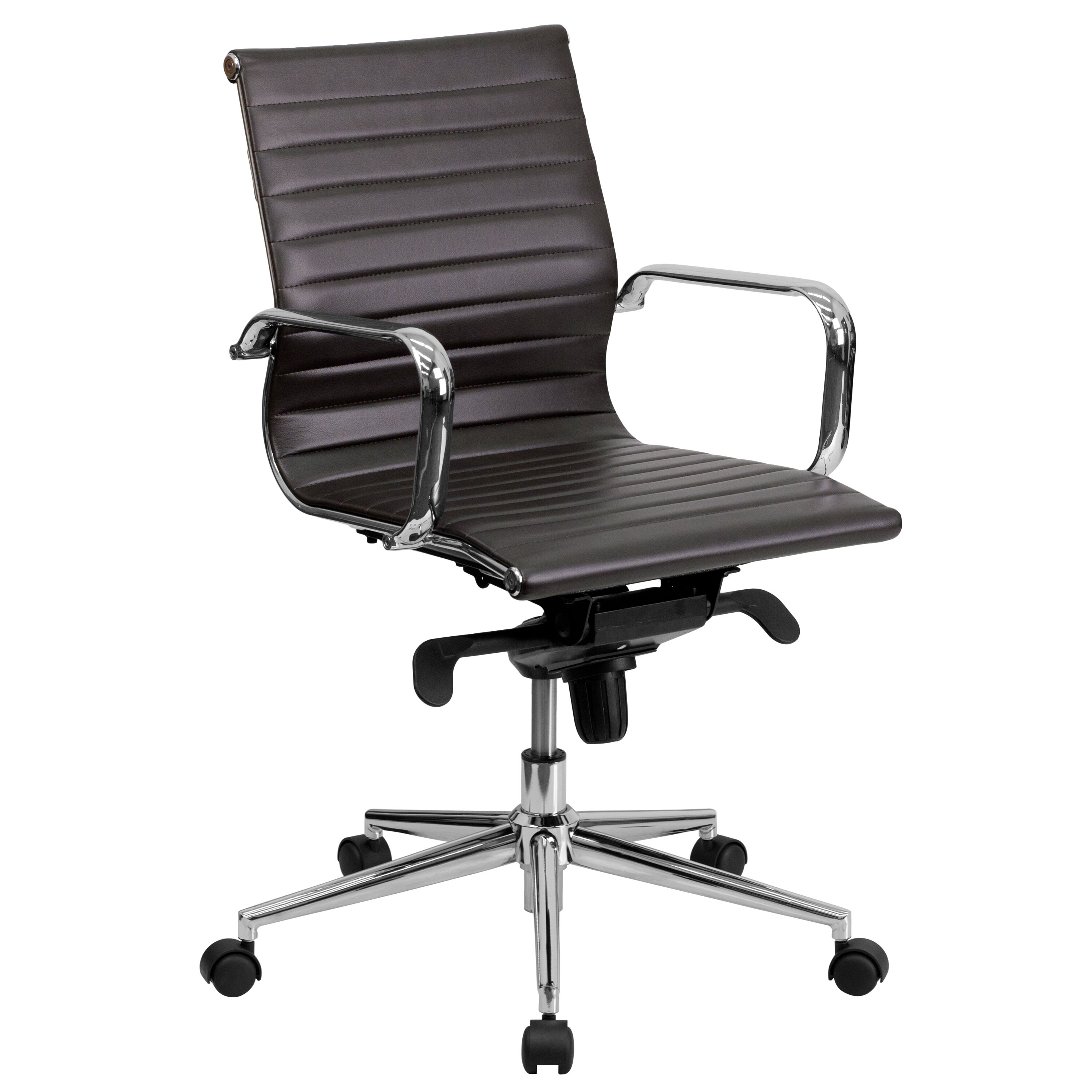 kilraghts mid back leather office chair joss main