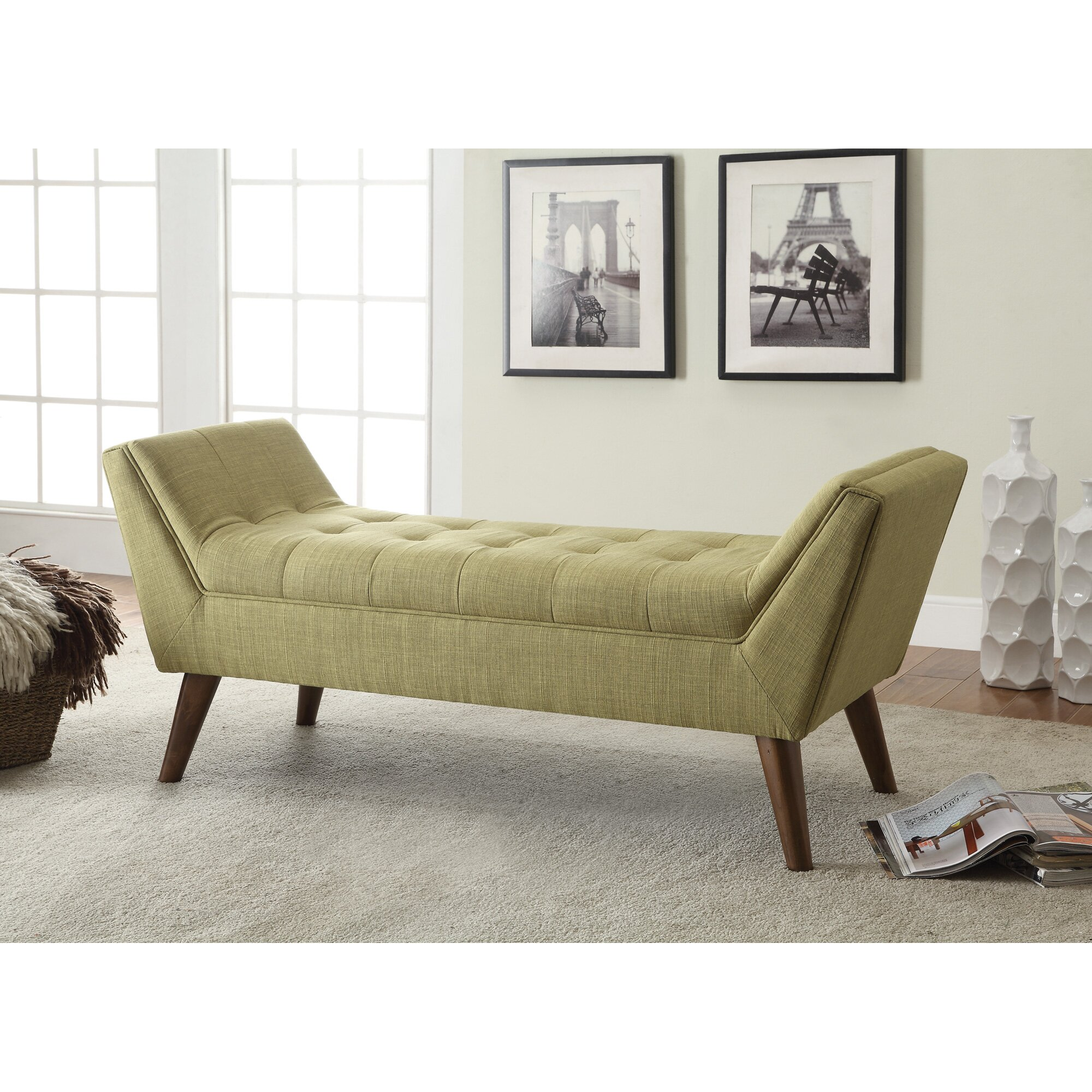 serena upholstered bedroom bench wayfair