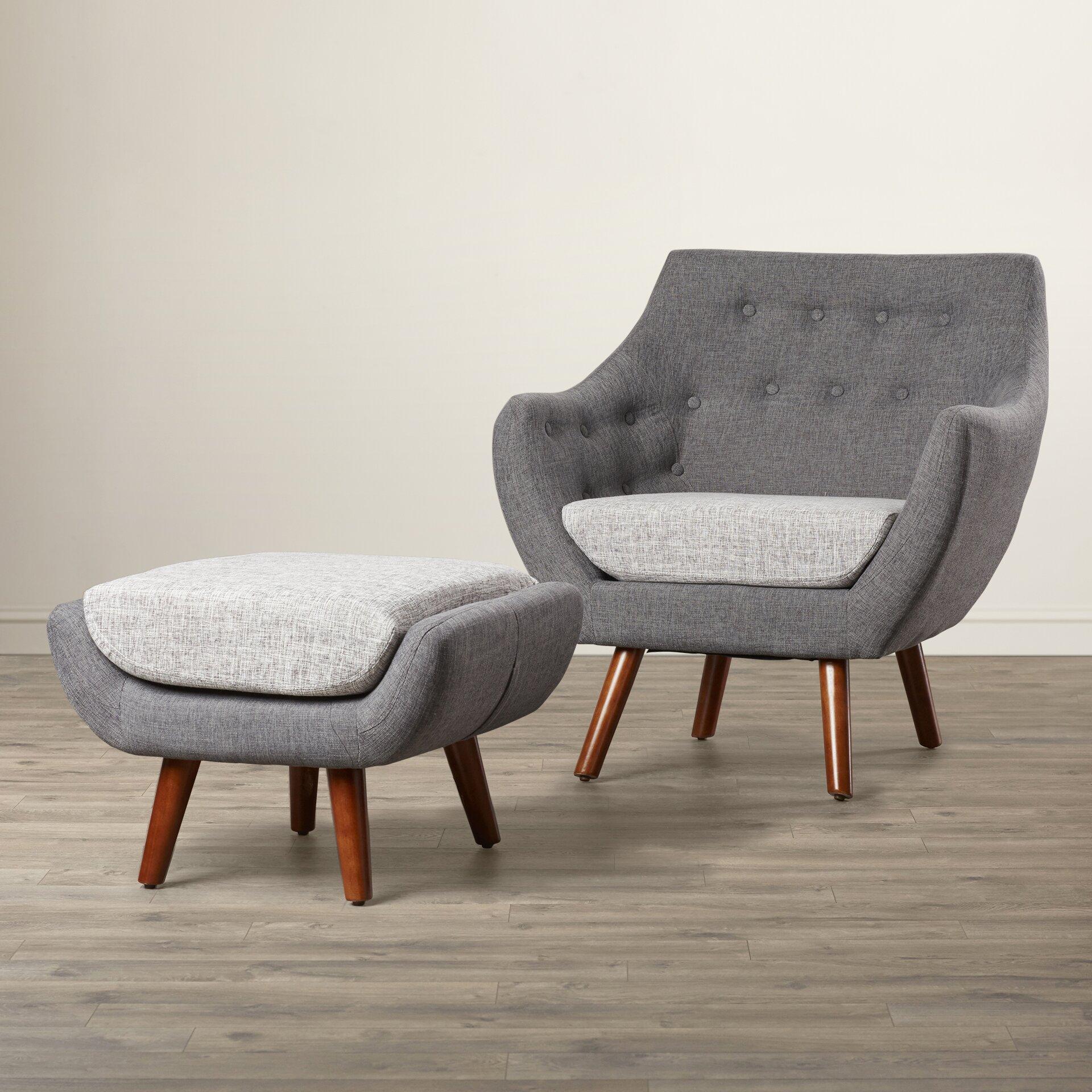 Murfreesboro 2 Piece Arm Chair And Ottoman Set Wayfair