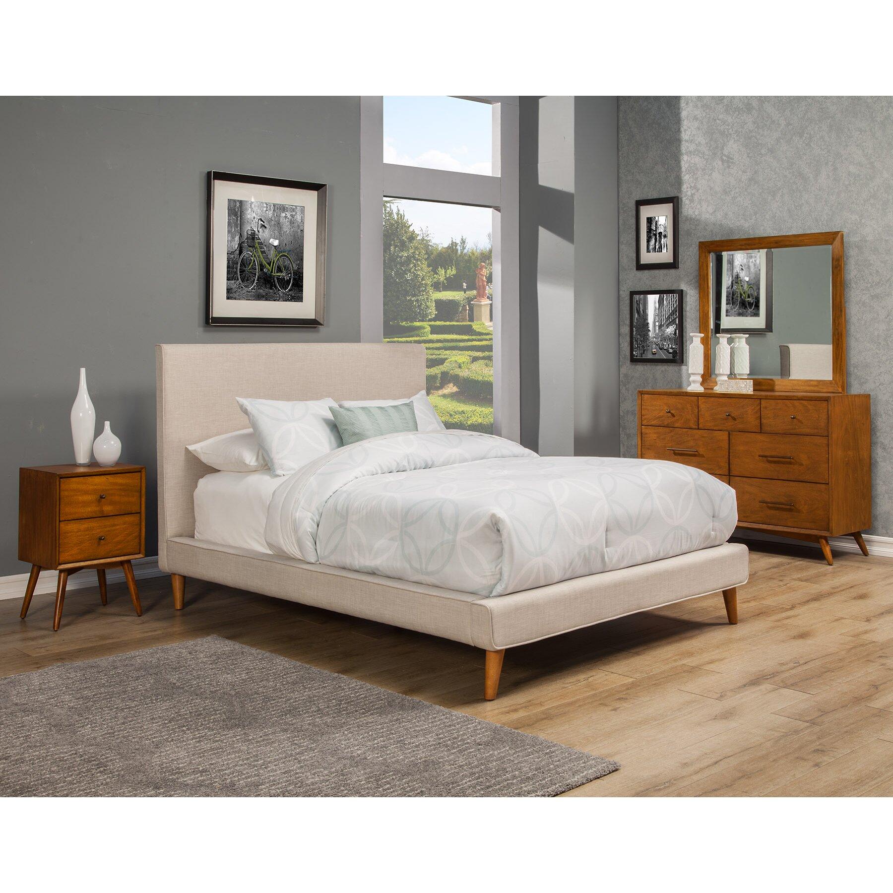 Langley Street Parocela Upholstered Platform Bed & Reviews