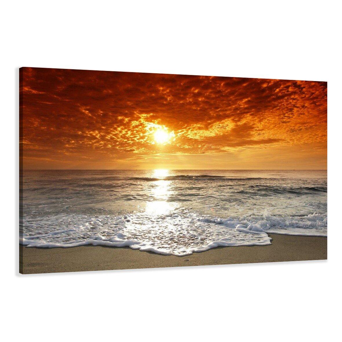 wandbild strand 80 x 120 cm von visario. Black Bedroom Furniture Sets. Home Design Ideas