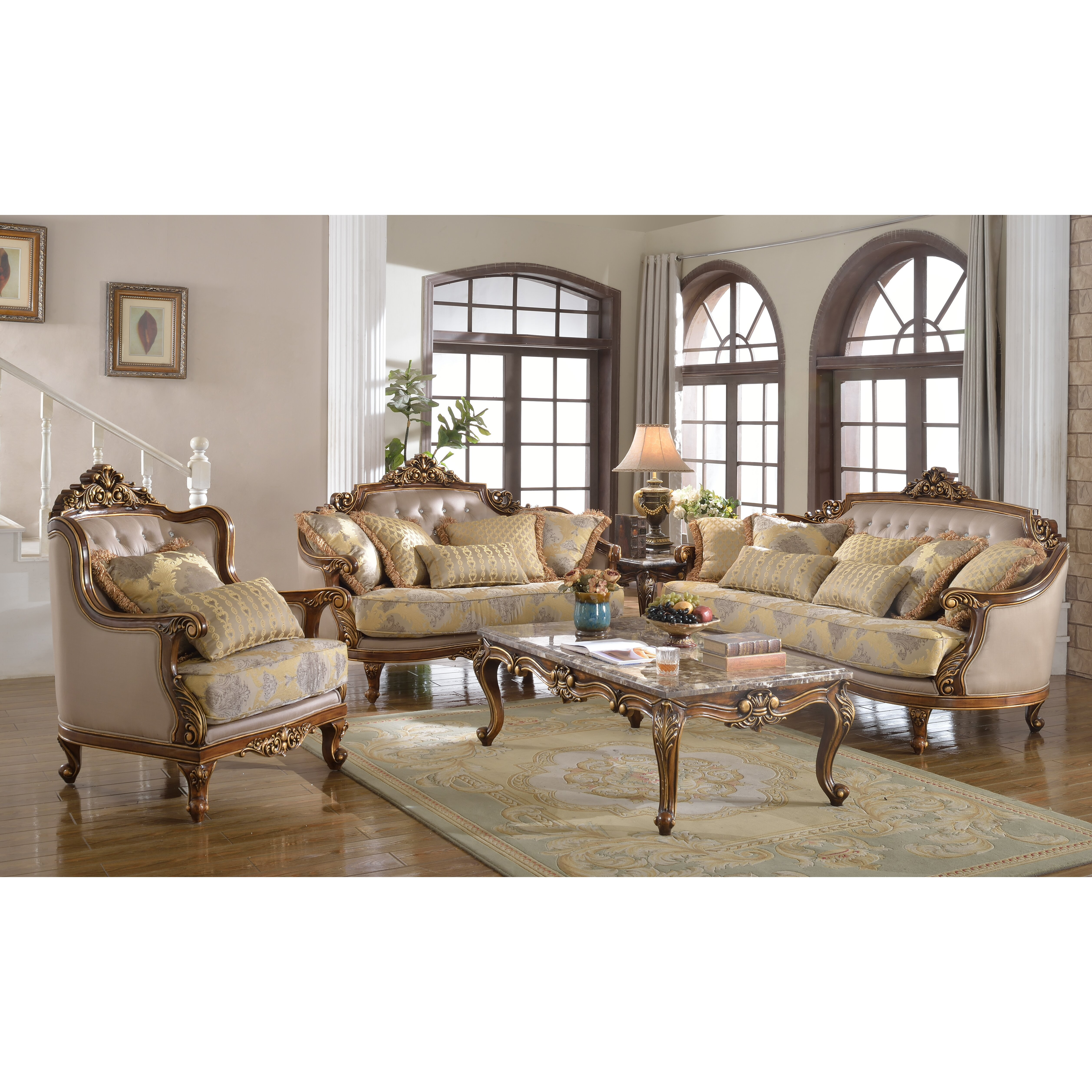 Traditional 3 piece living room set wayfair for 3 piece living room set