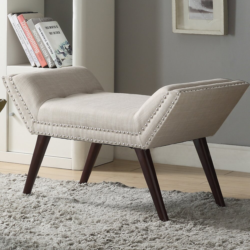 Upholstered Foyer Bench : Nspire upholstered entryway bench reviews wayfair