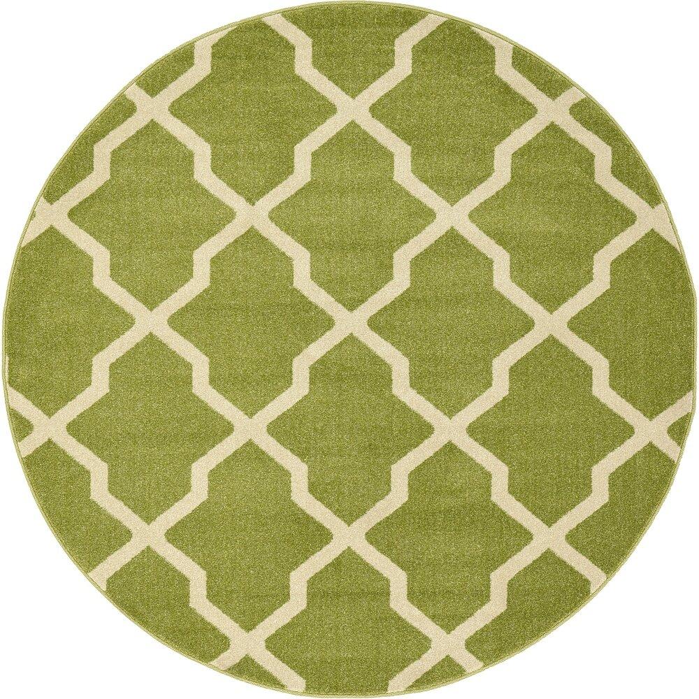 Unique Loom Trellis Green Area Rug & Reviews