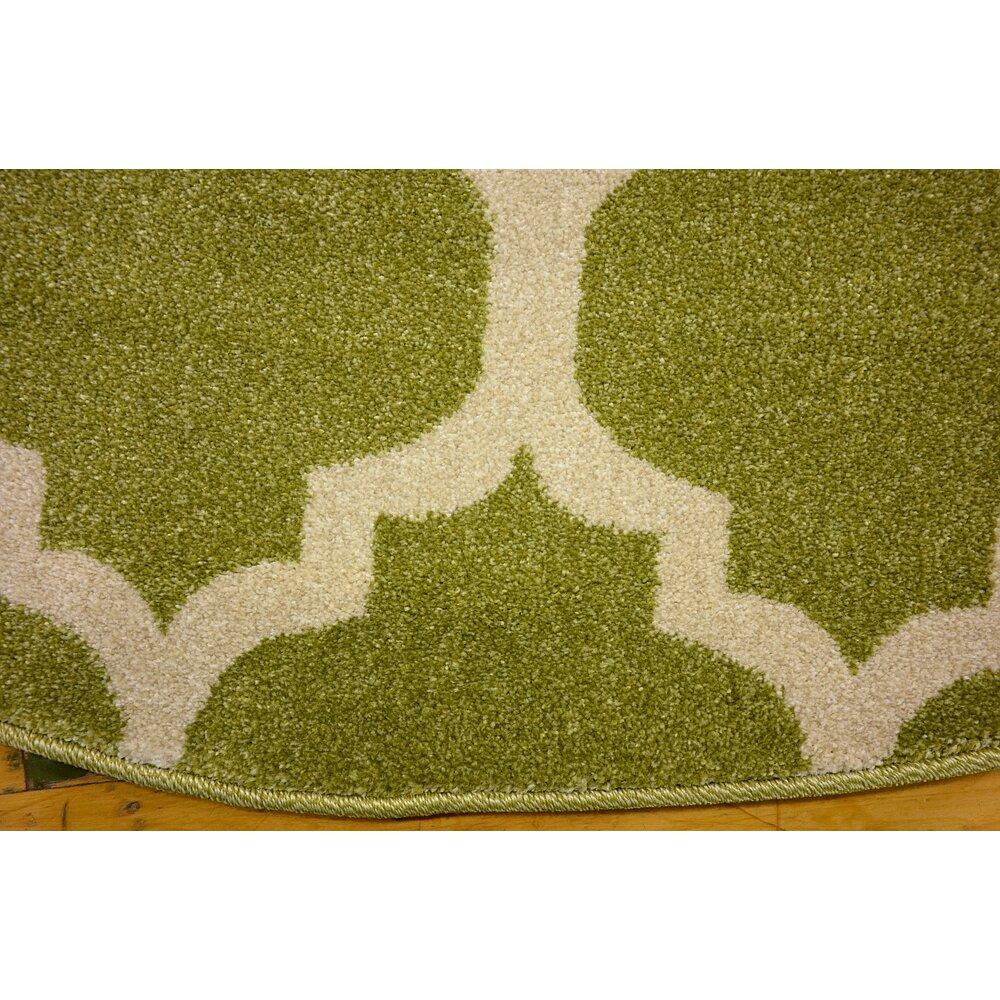 Trellis Green Indoor Area Rug