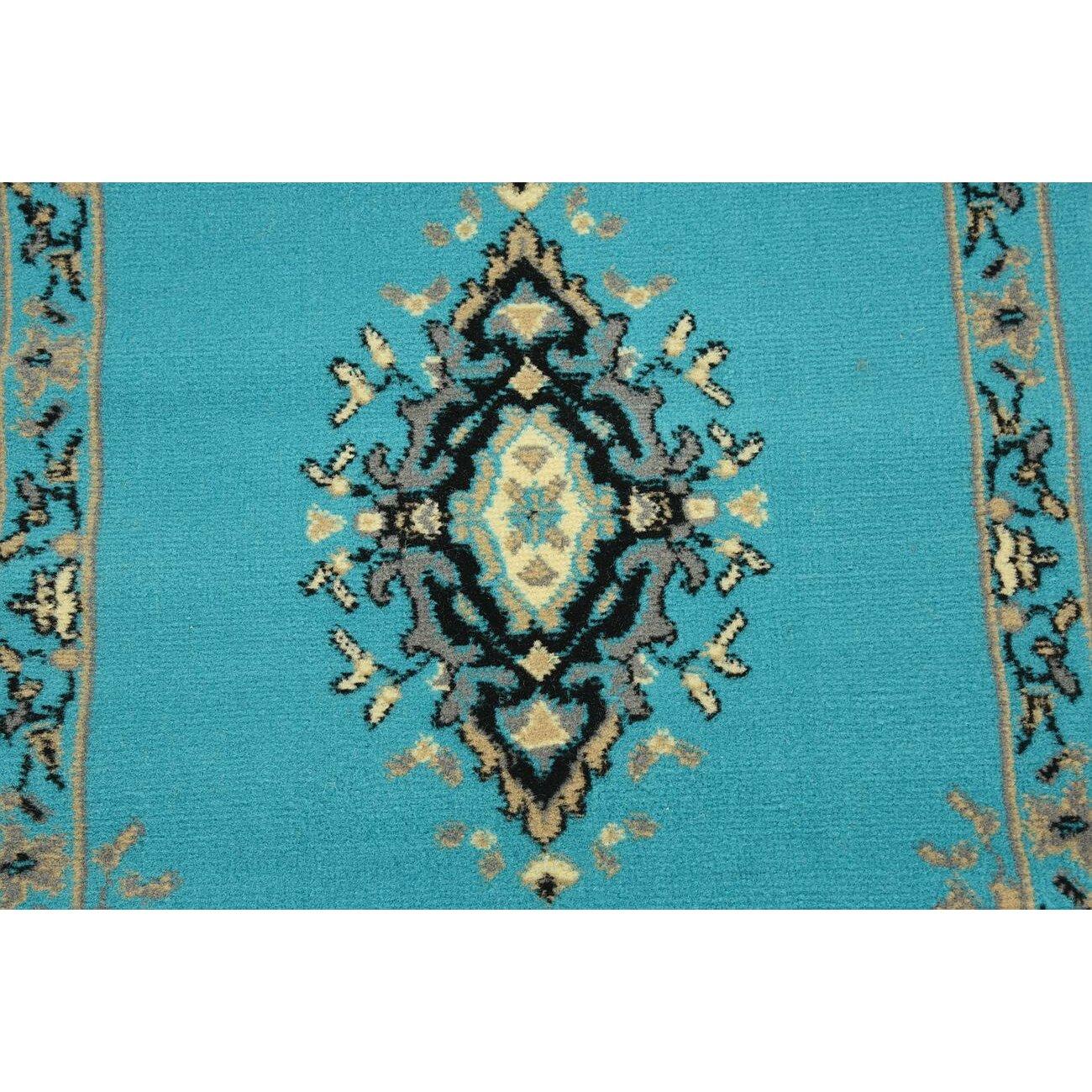 Saleya Turquoise Area Rug: Mashad Turquoise Area Rug