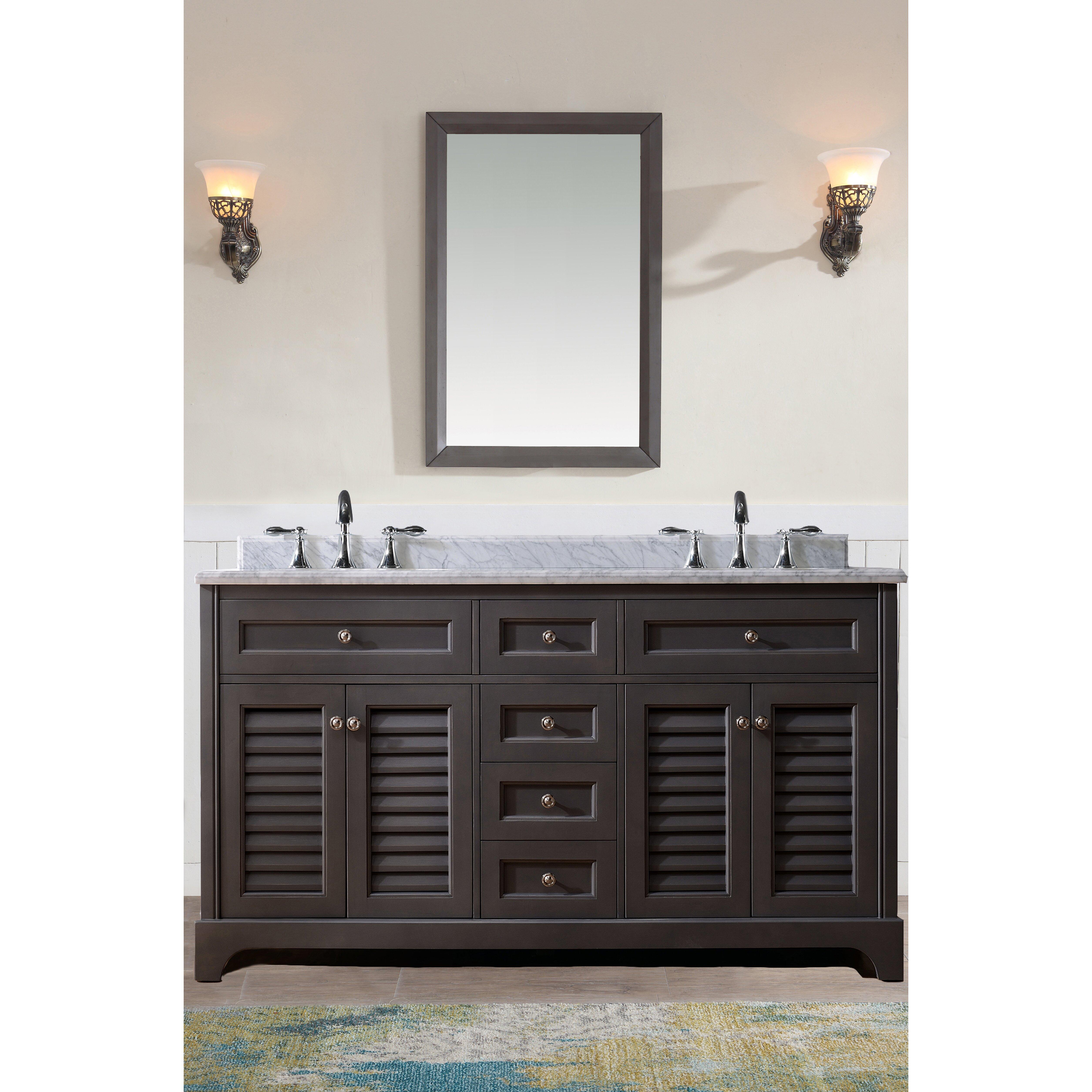 Ari Kitchen Amp Bath Madison 60 Quot Double Bathroom Vanity Set
