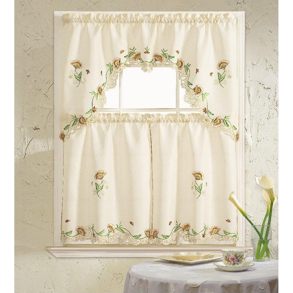 Kitchen Curtains Sets: Daniels Bath Cosmos 3 Piece Kitchen Curtain Set & Reviews