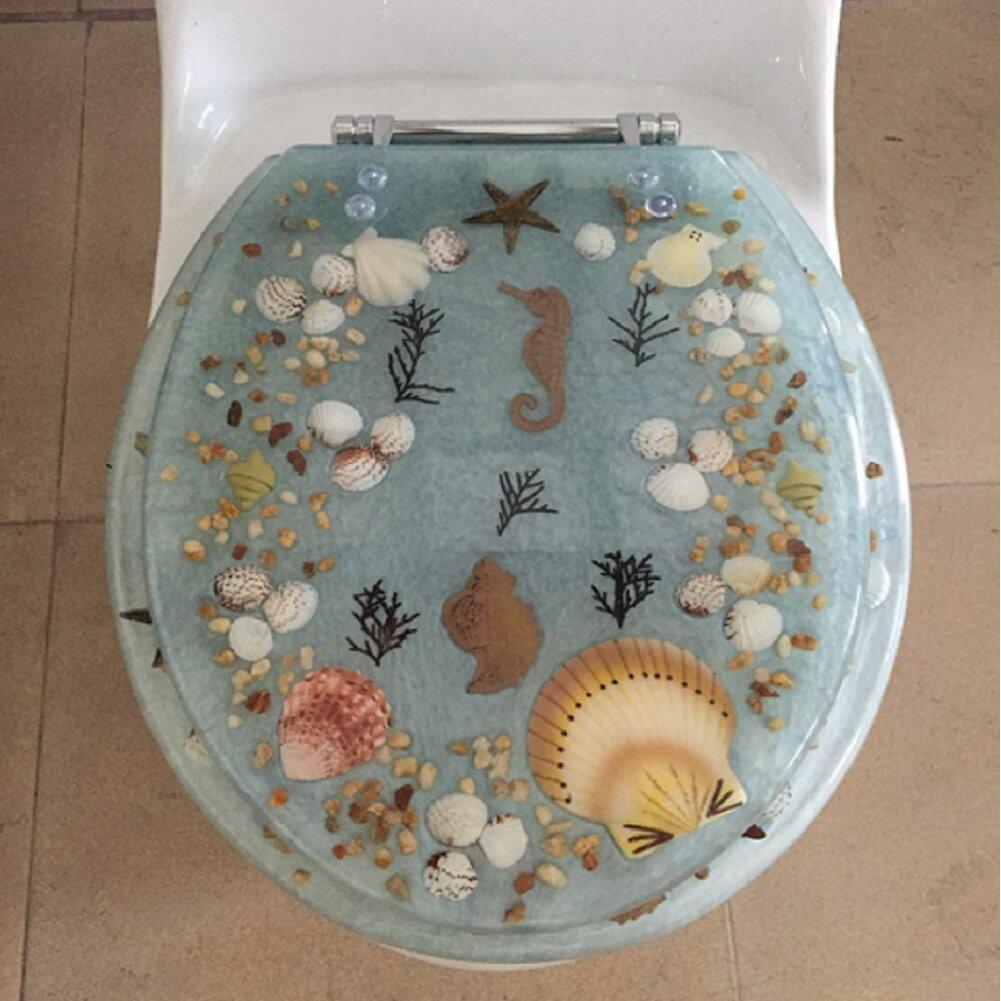 Sea Treasure Deccortive Elongated Toilet Seat Wayfair