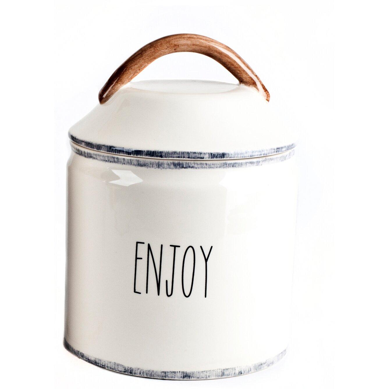 mr food test kitchen farmhouse enjoy canister wayfair. Black Bedroom Furniture Sets. Home Design Ideas