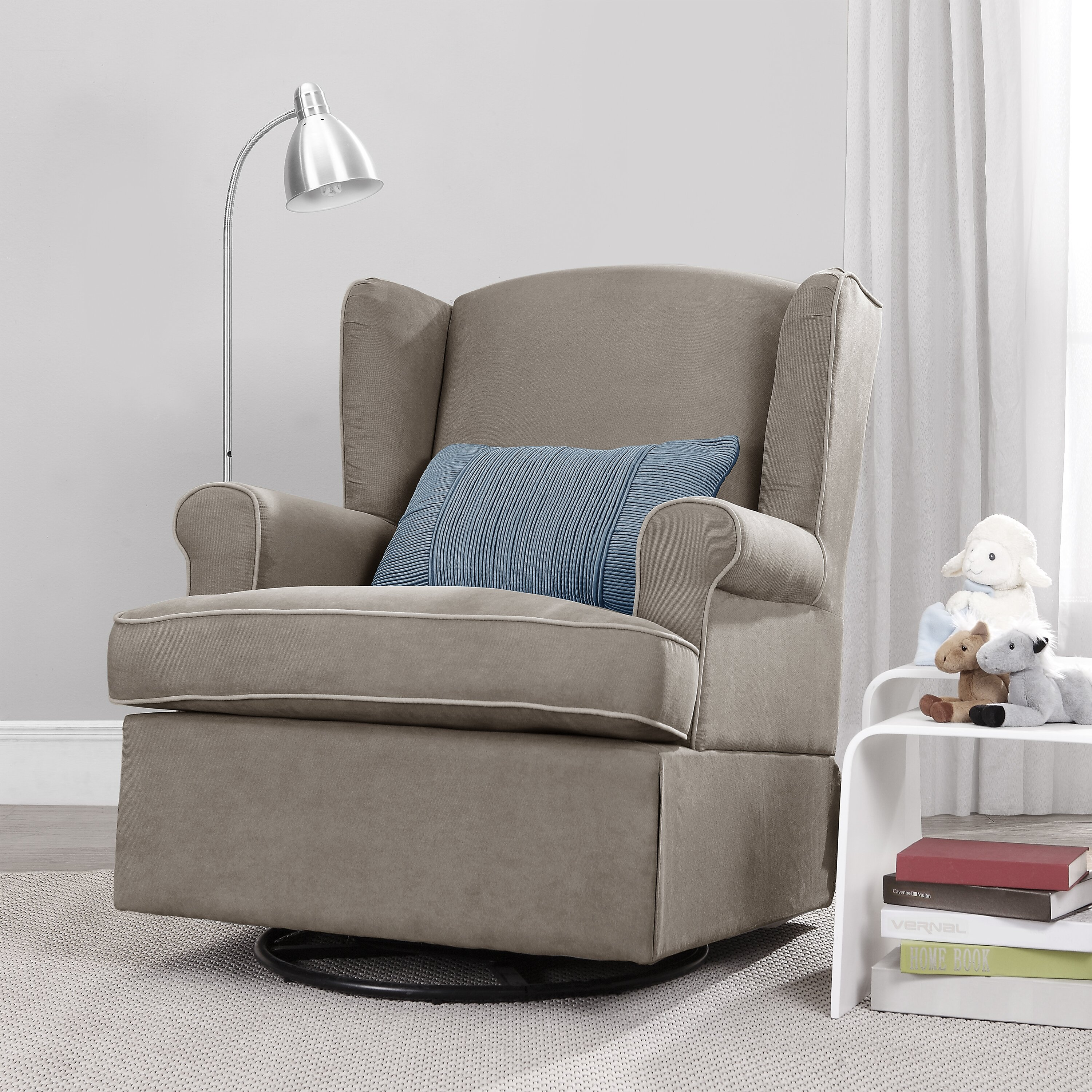 Baby Relax Baby Relax Swivel Glider In Dark Taupe