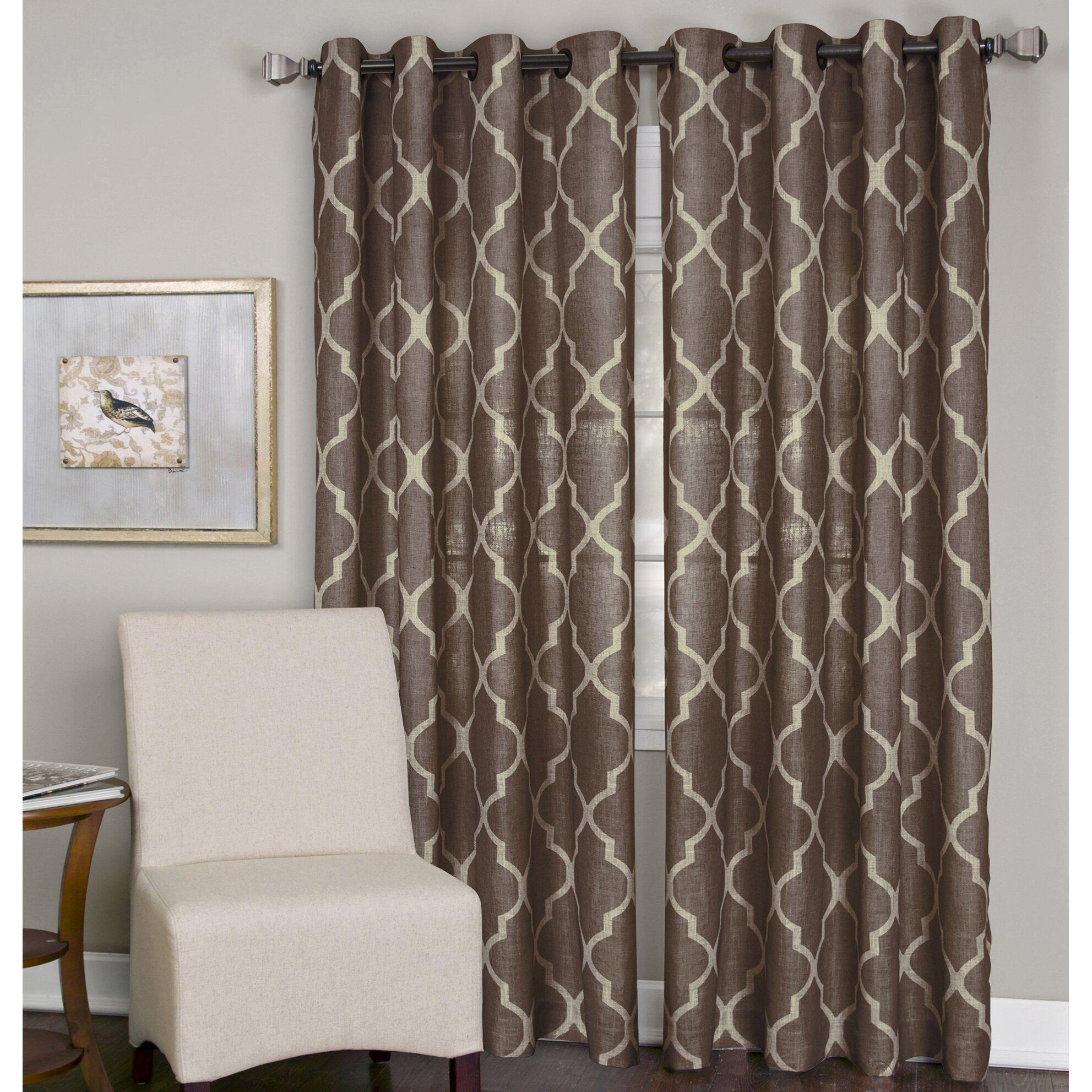 elrene home fashions medalia single window curtain panel
