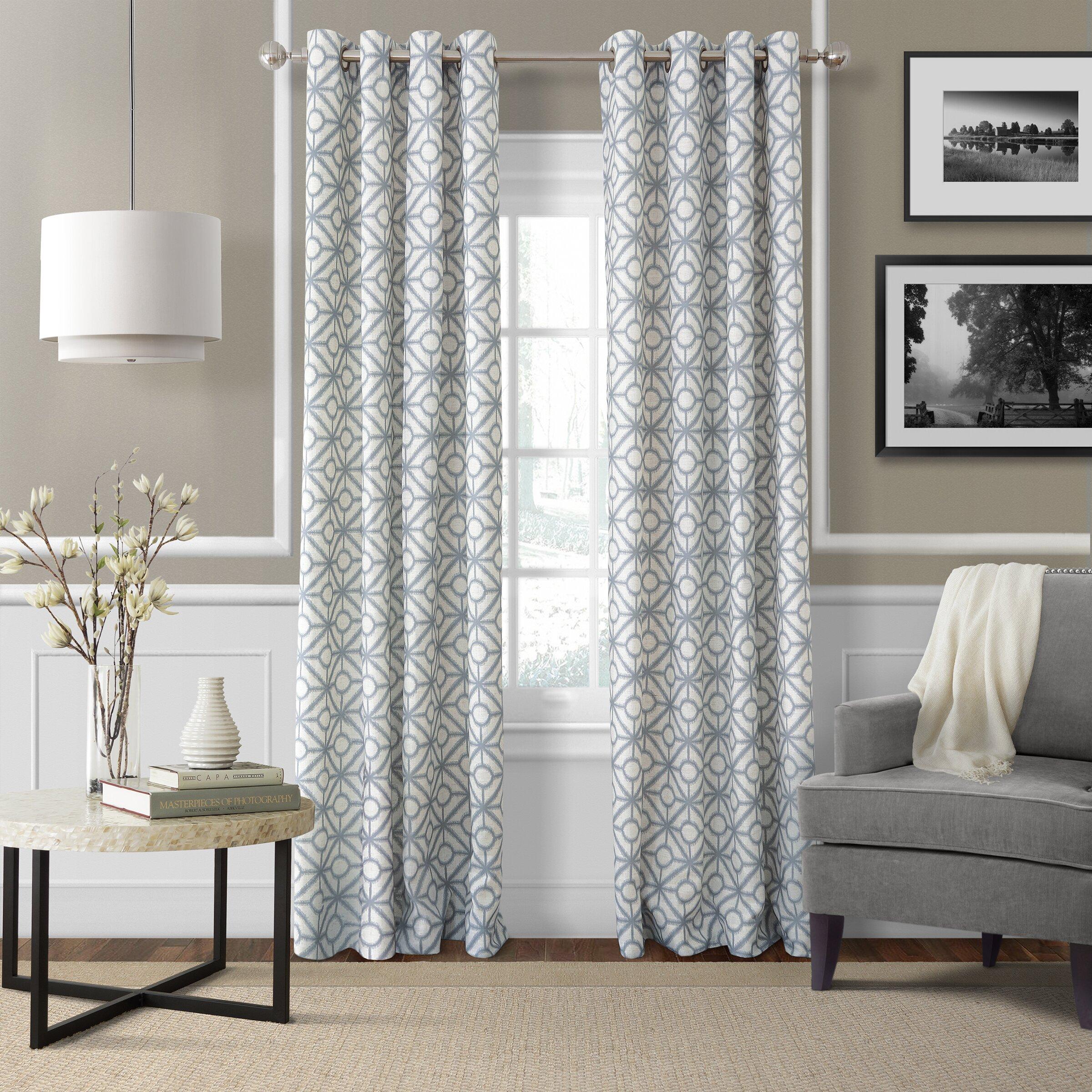 Elrene Home Fashions Crackle Single Curtain Panel