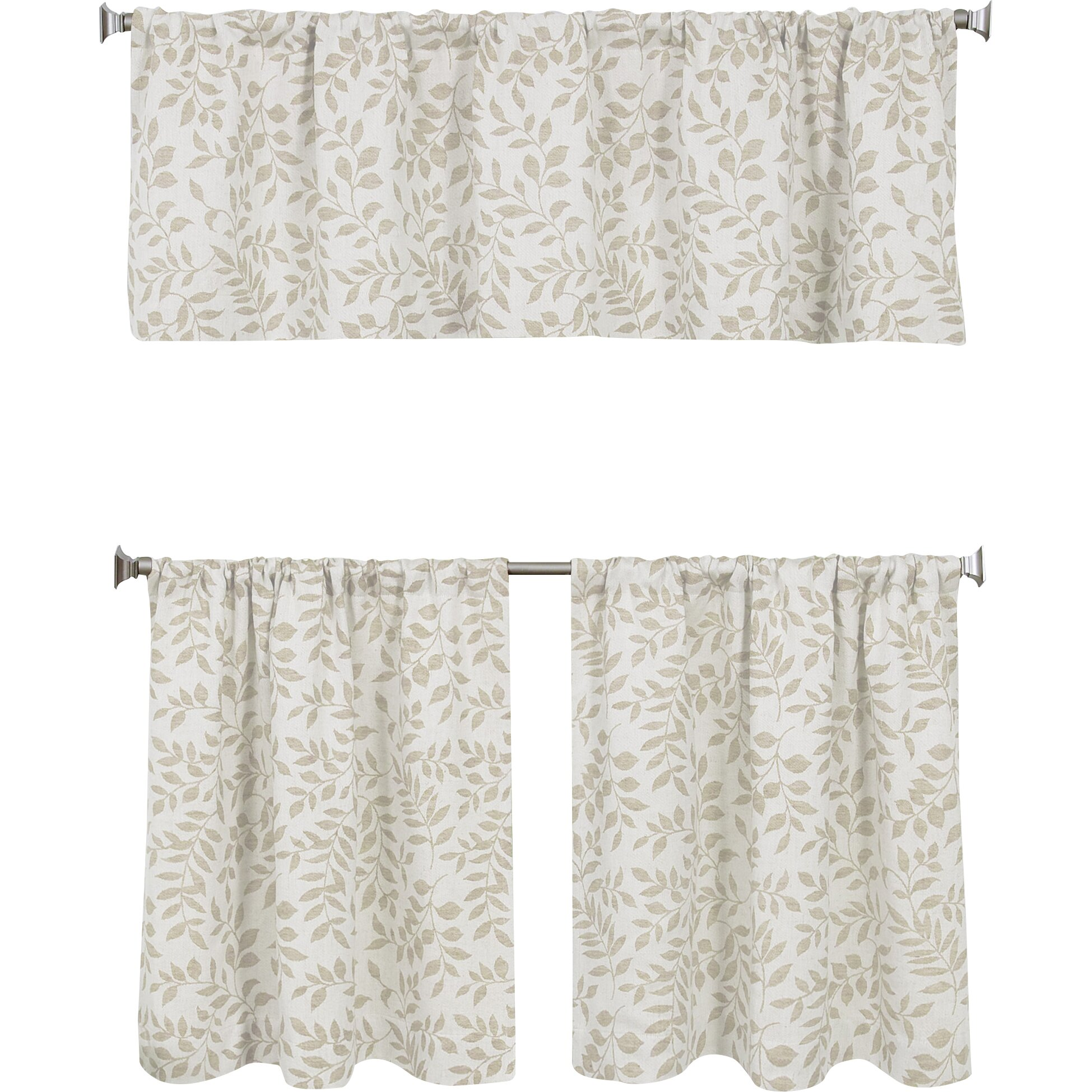 Elrene Home Fashions Serene 60 Quot Curtain Valance Amp Reviews