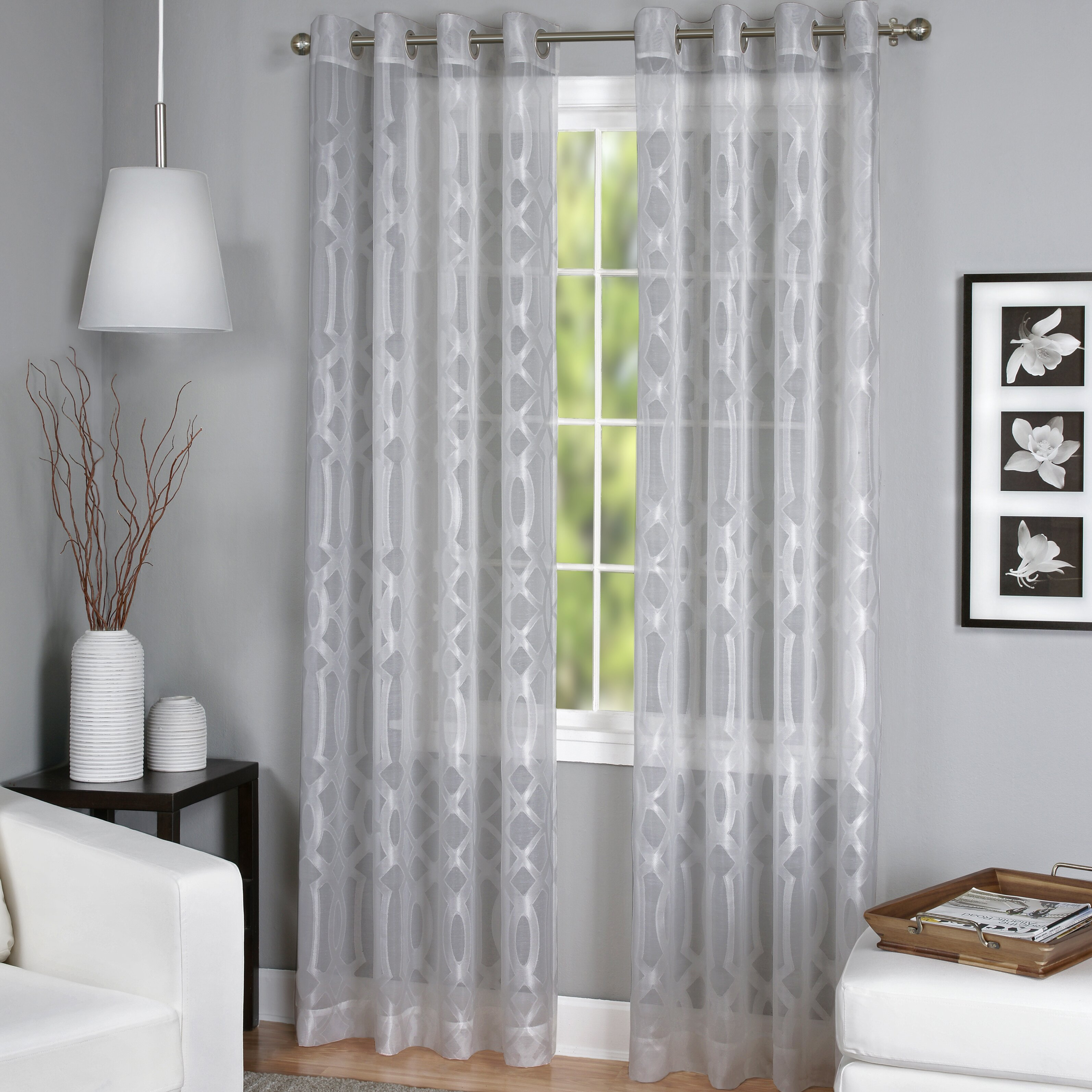 home fashions latique sheer window curtain panel reviews wayfair
