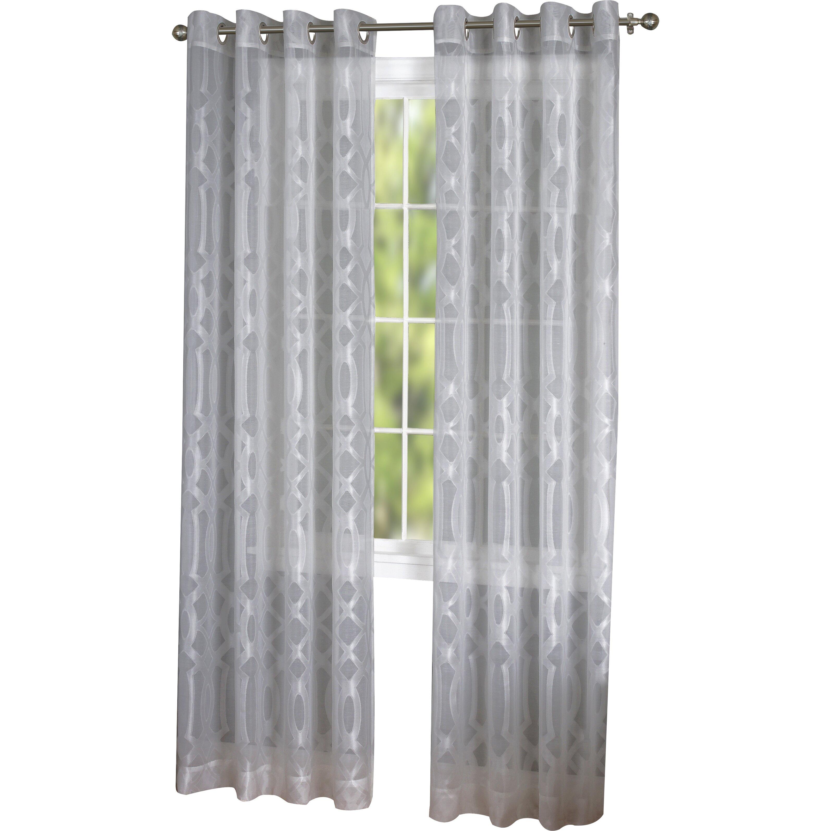 elrene home fashions latique sheer window curtain panel