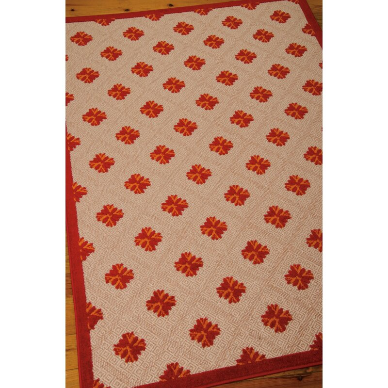 Nourison Aloha Red Indoor Outdoor Area Rug & Reviews