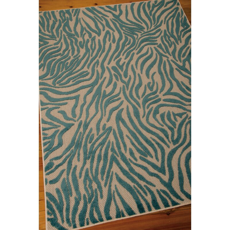 Aloha Blue Indoor Outdoor Area Rug