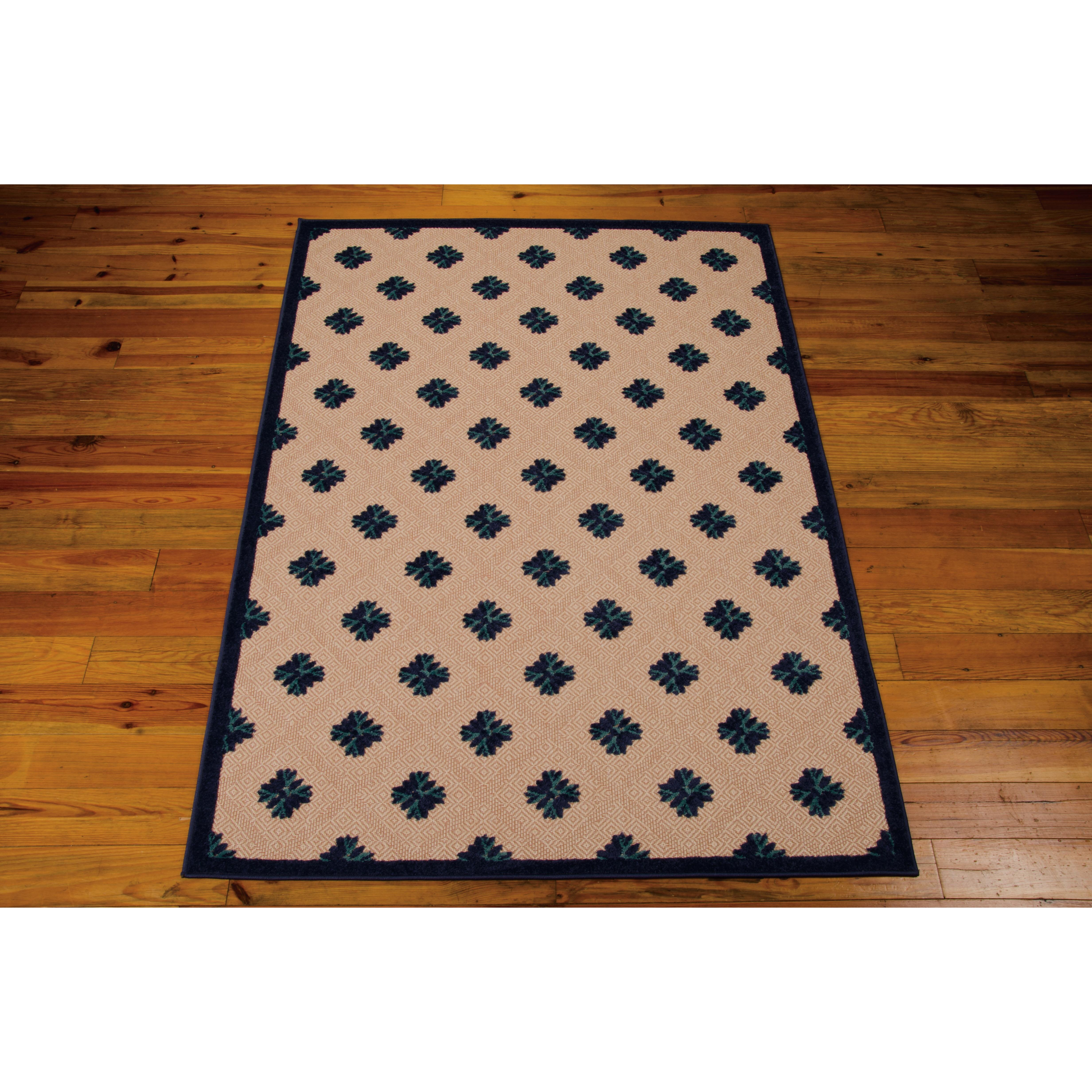 Aloha Navy Indoor Outdoor Area Rug