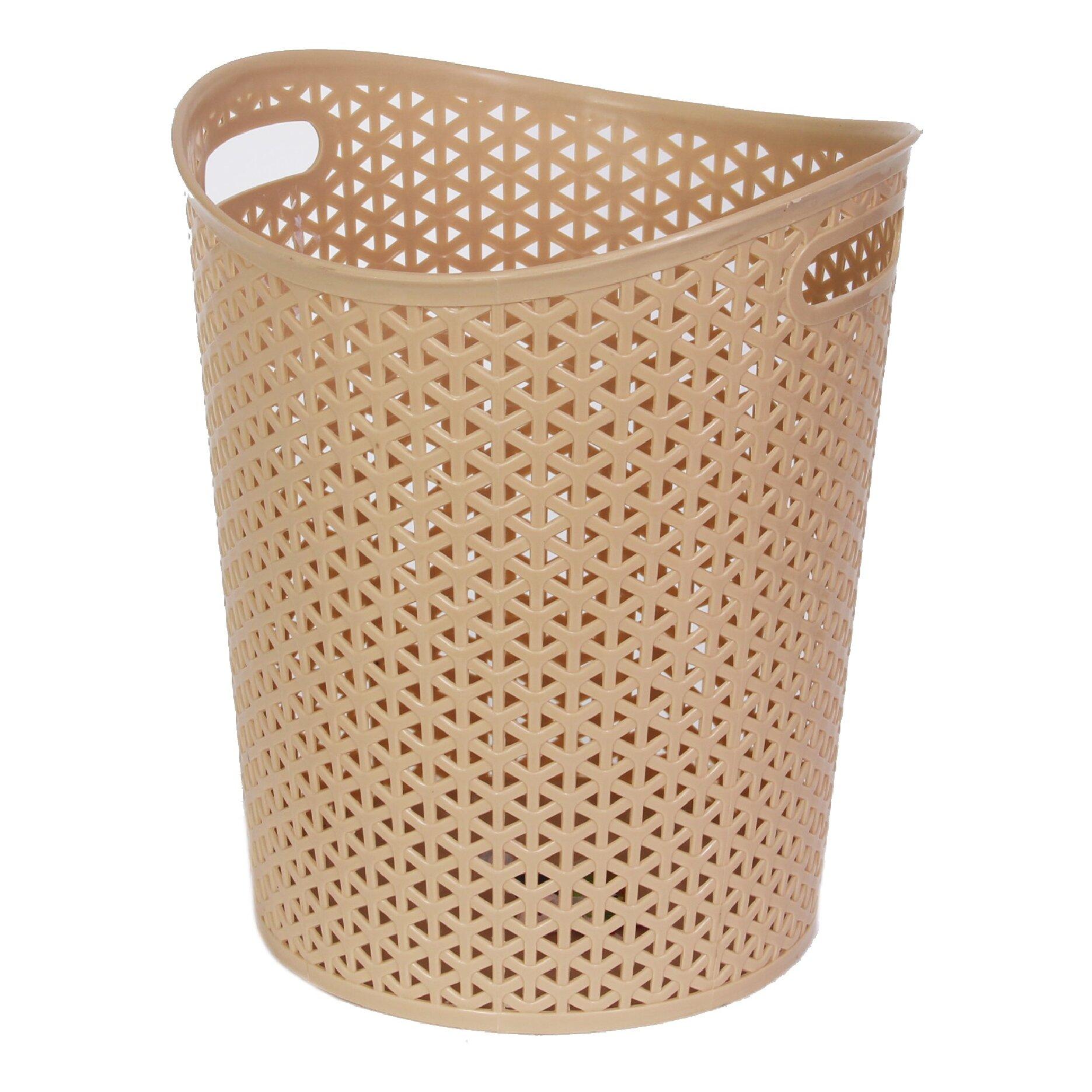 Ybm home rattan plastic waste basket reviews wayfair - Rattan waste basket ...