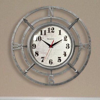 Westclox 14 Quot Round Compass Dial Wall Clock Amp Reviews Wayfair
