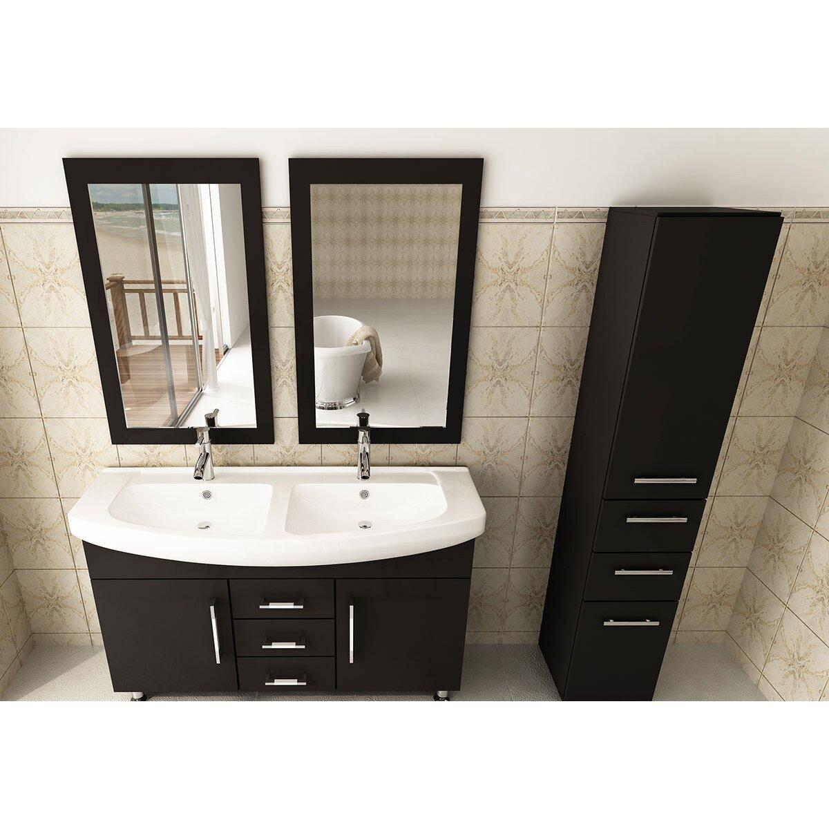 jwh living celine 48 quot  double bathroom vanity set   reviews 48 Inch Double Sink Bathroom Vanities 48 Inch Double Sink Bathroom Vanity