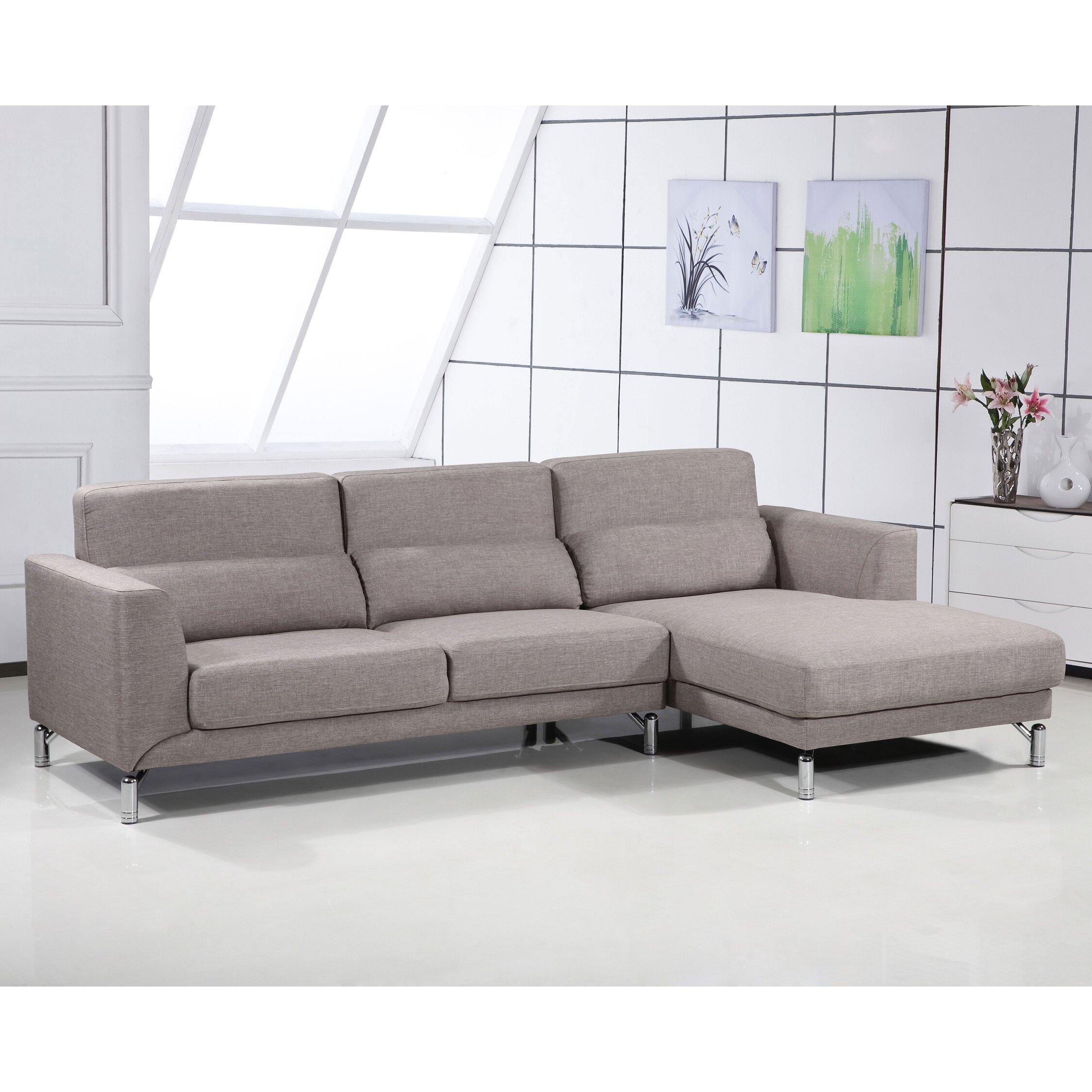 Aria Fabric Modern Sectional Sofa Set CNTA
