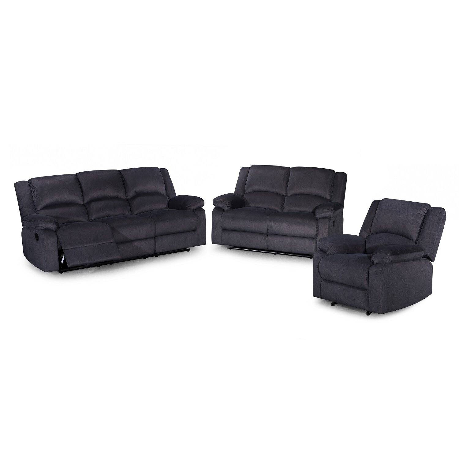 Piece Recliner Sofa Set By Container Traditional Sofas Reclining