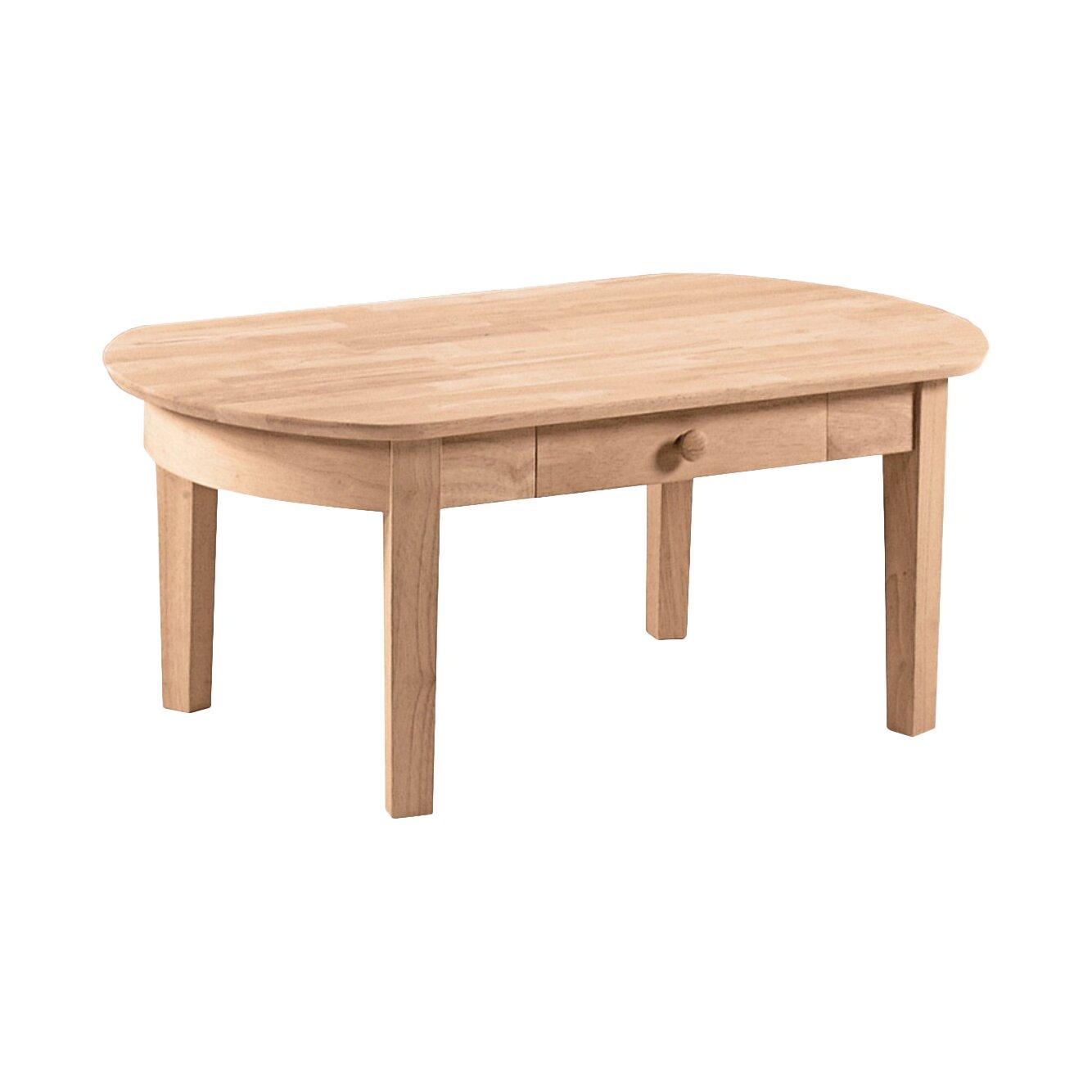 Unfinished wood philips coffee table wayfair for Unfinished coffee table