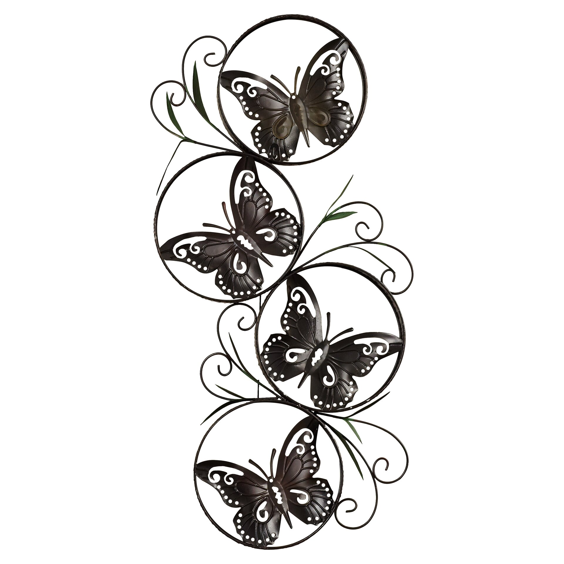 ila metal butterfly wall d cor wayfair. Black Bedroom Furniture Sets. Home Design Ideas