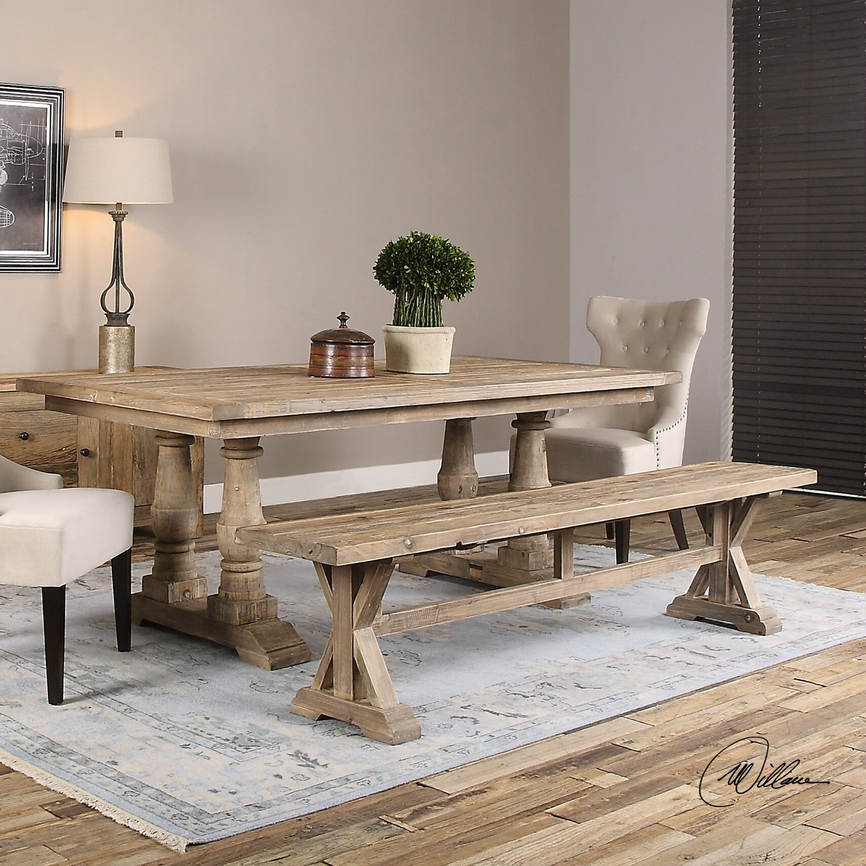 Rocky Ford Wood Kitchen Bench