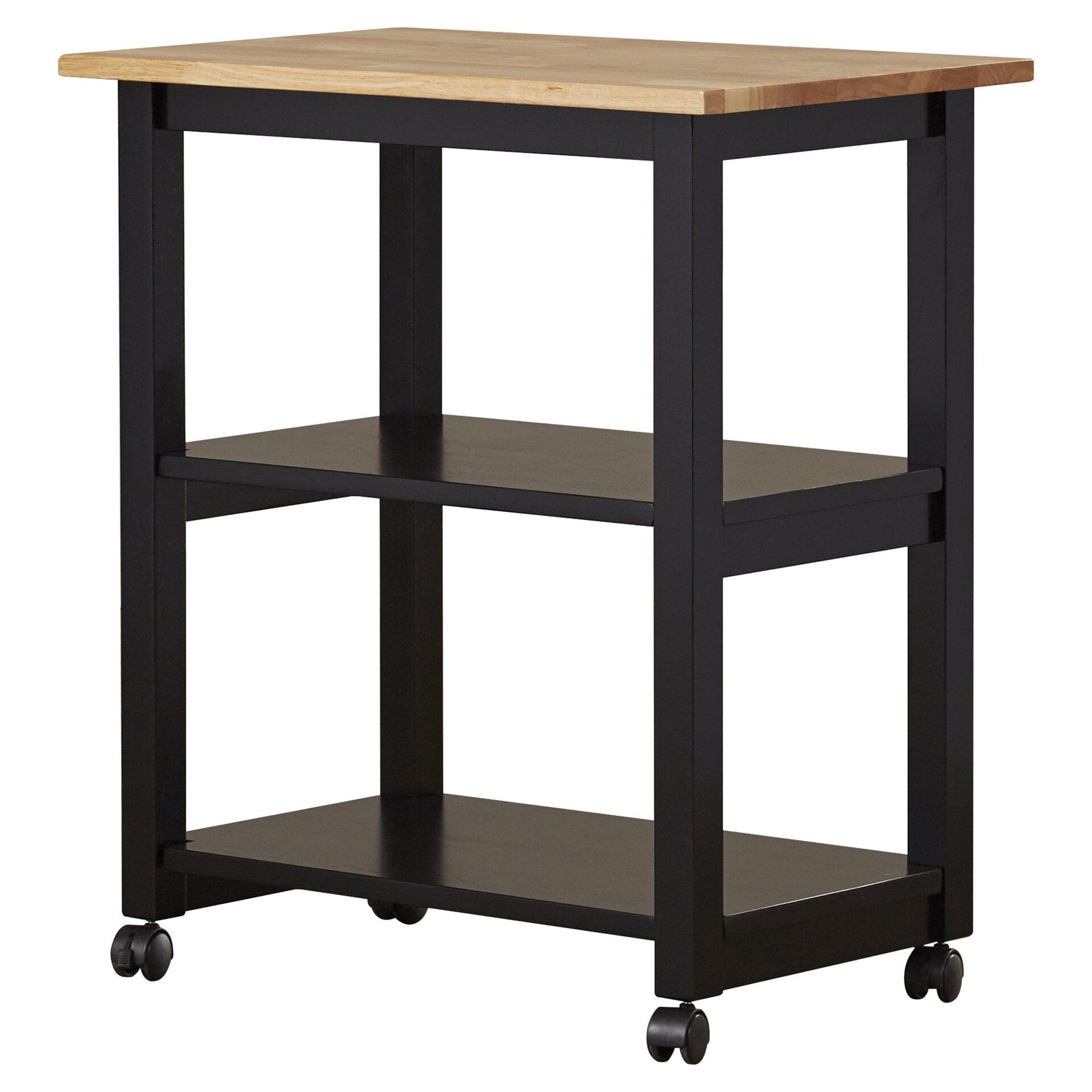 de soto kitchen cart with butcher block top wayfair. Black Bedroom Furniture Sets. Home Design Ideas