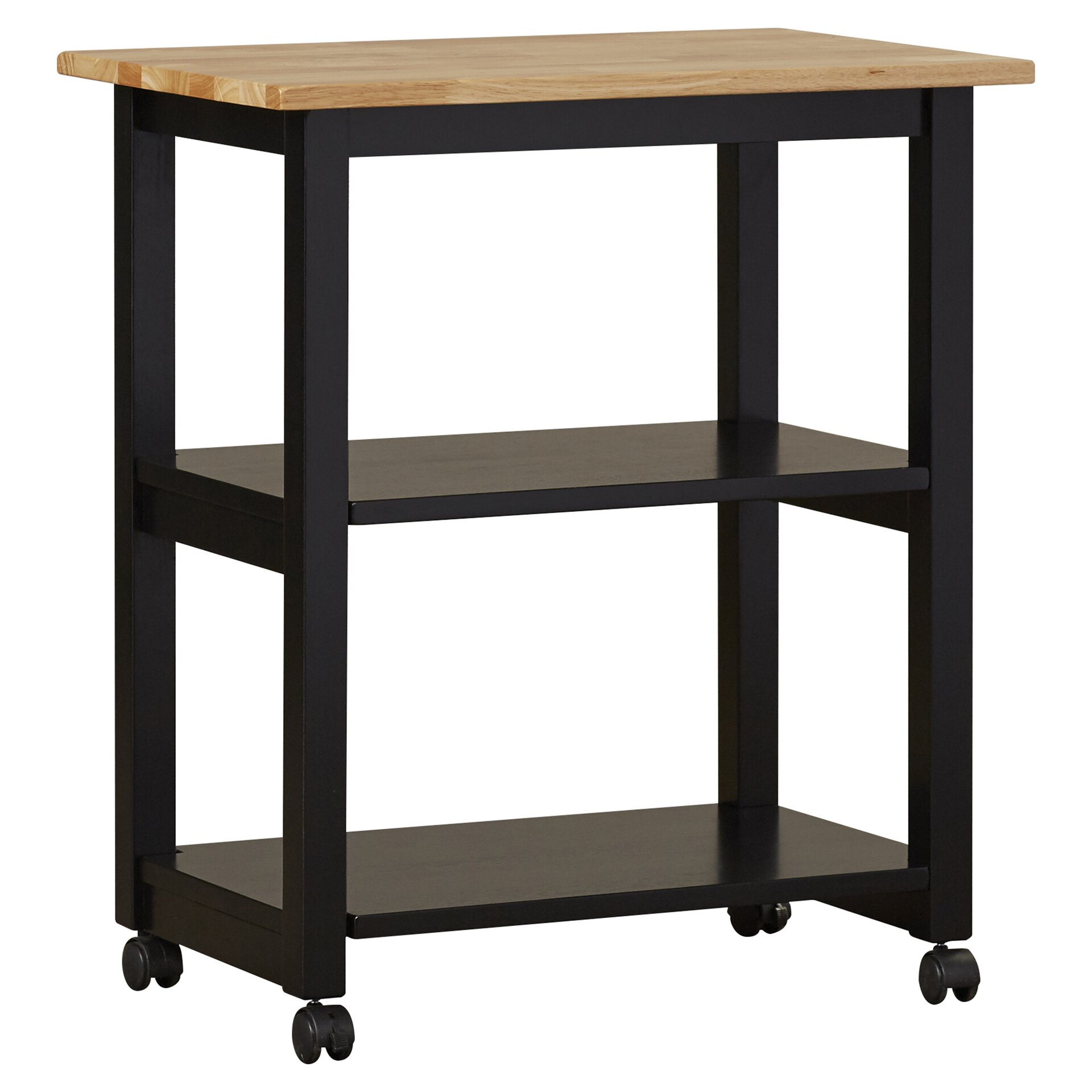 Kitchen Trolley Butcher Block : August Grove De Soto Kitchen Cart with Butcher Block Top & Reviews Wayfair