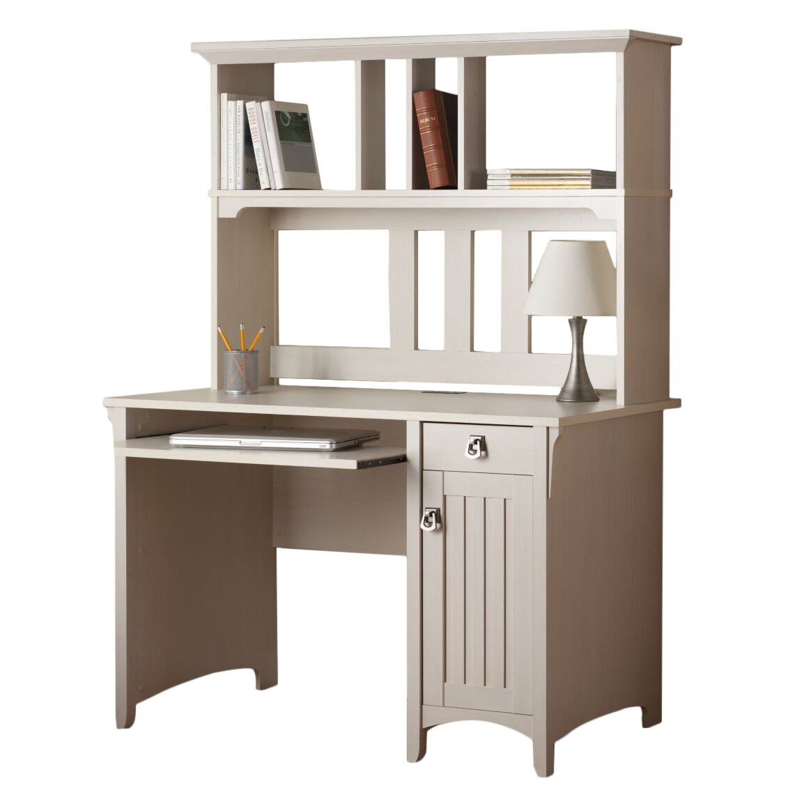 August Grove Samy Computer Desk With Hutch Amp Reviews Wayfair