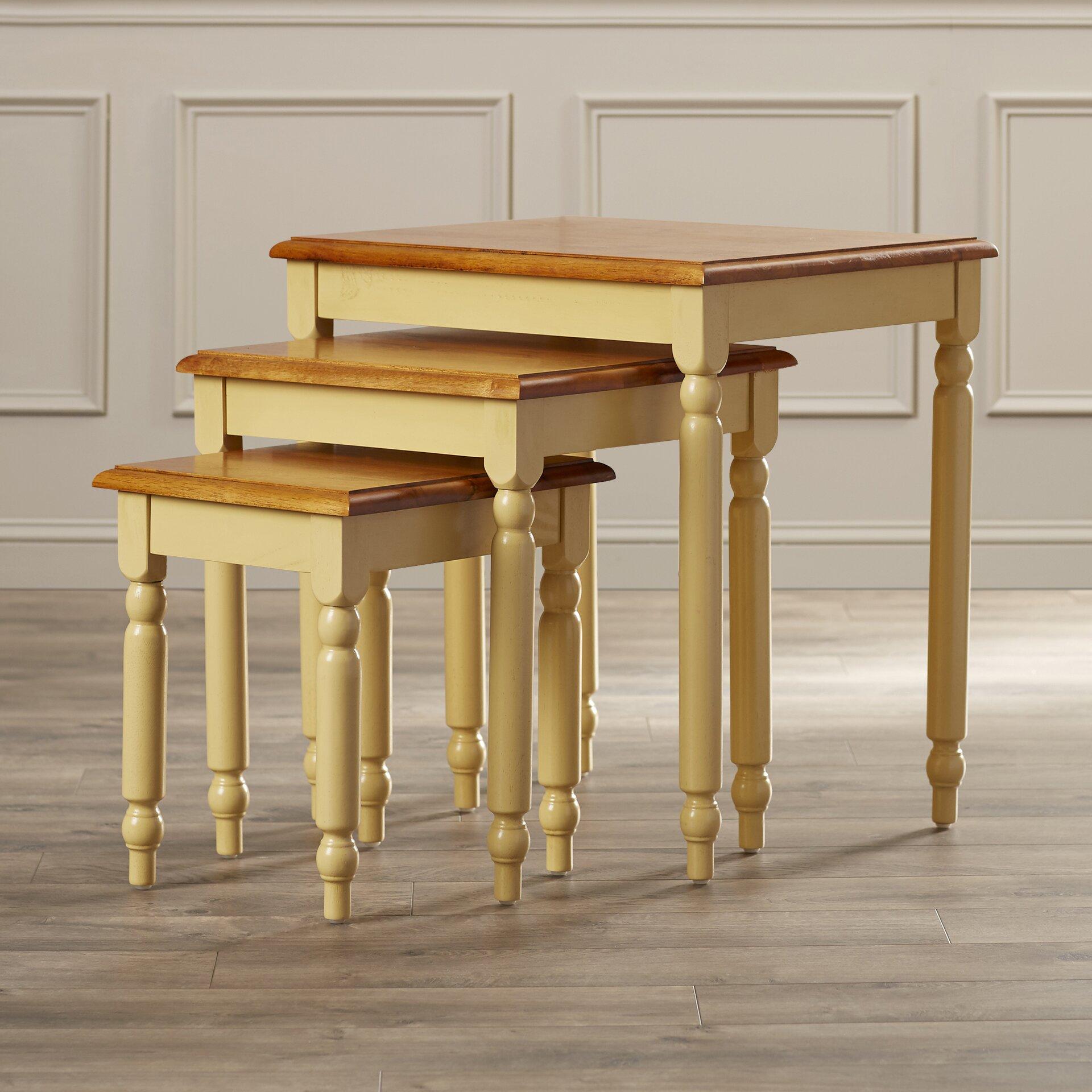 August Grove Grandin 3 Piece Nesting Tables Amp Reviews
