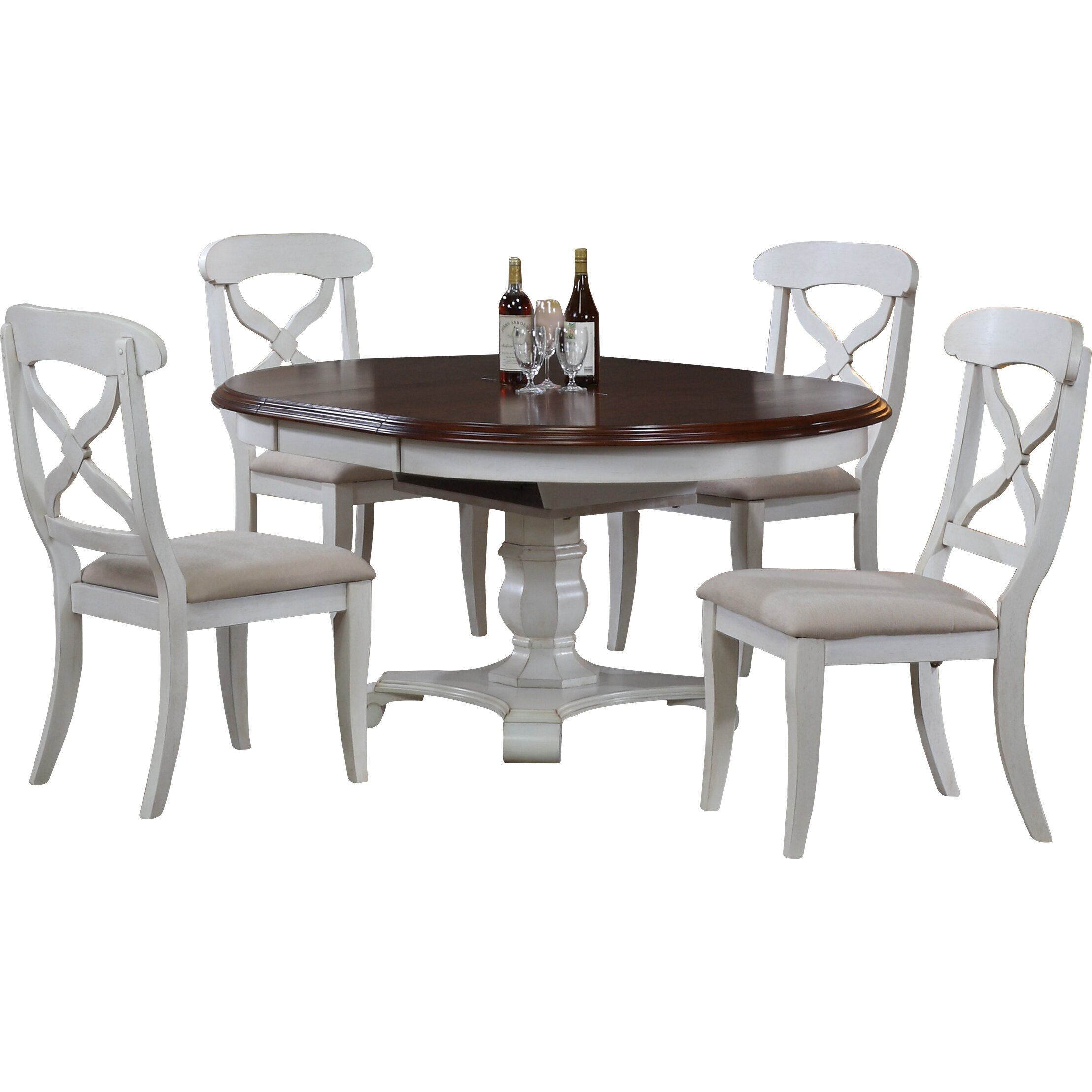 August Grove Britney Butterfly Leaf 5 Piece Dining Set