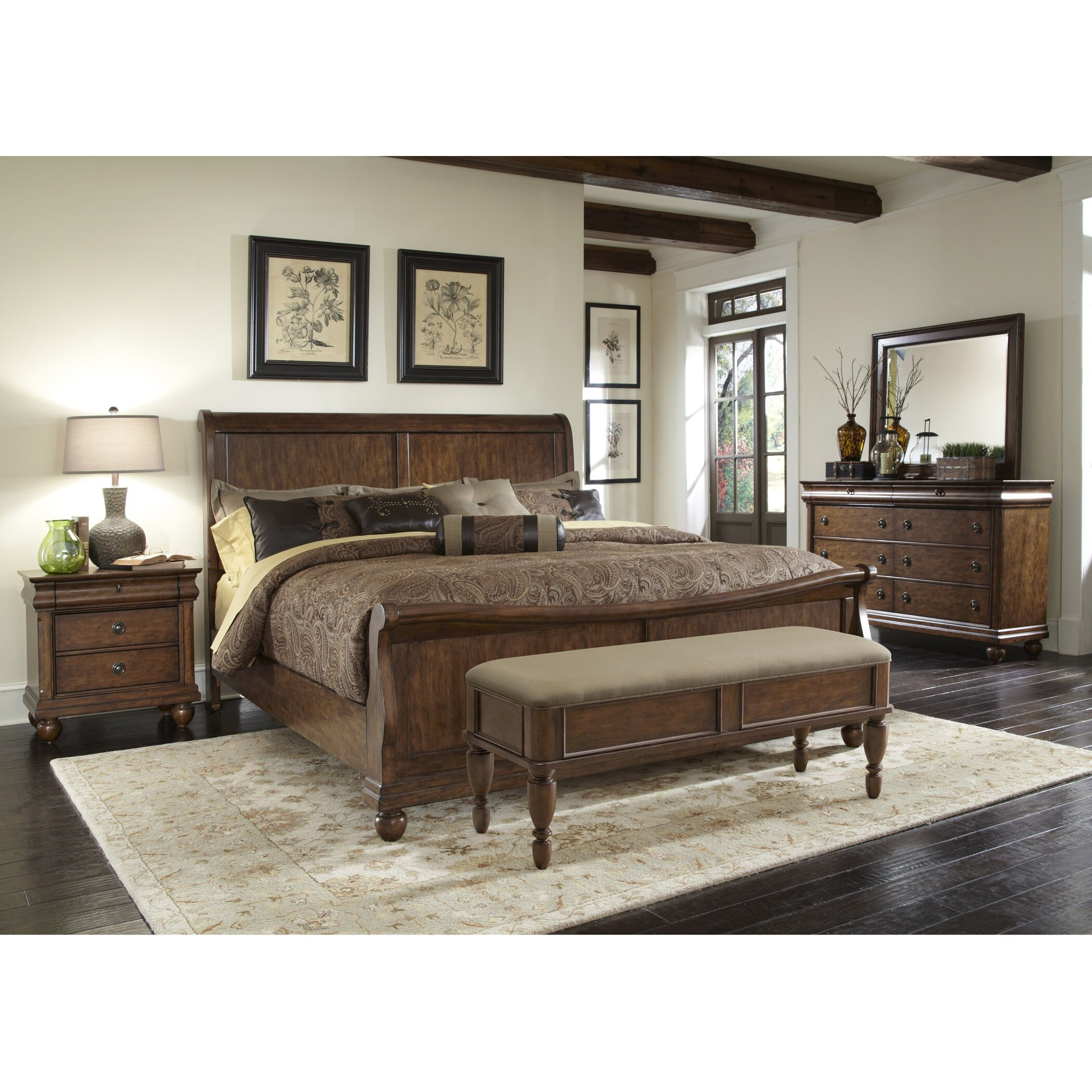 pinesdale upholstered bedroom bench | wayfair