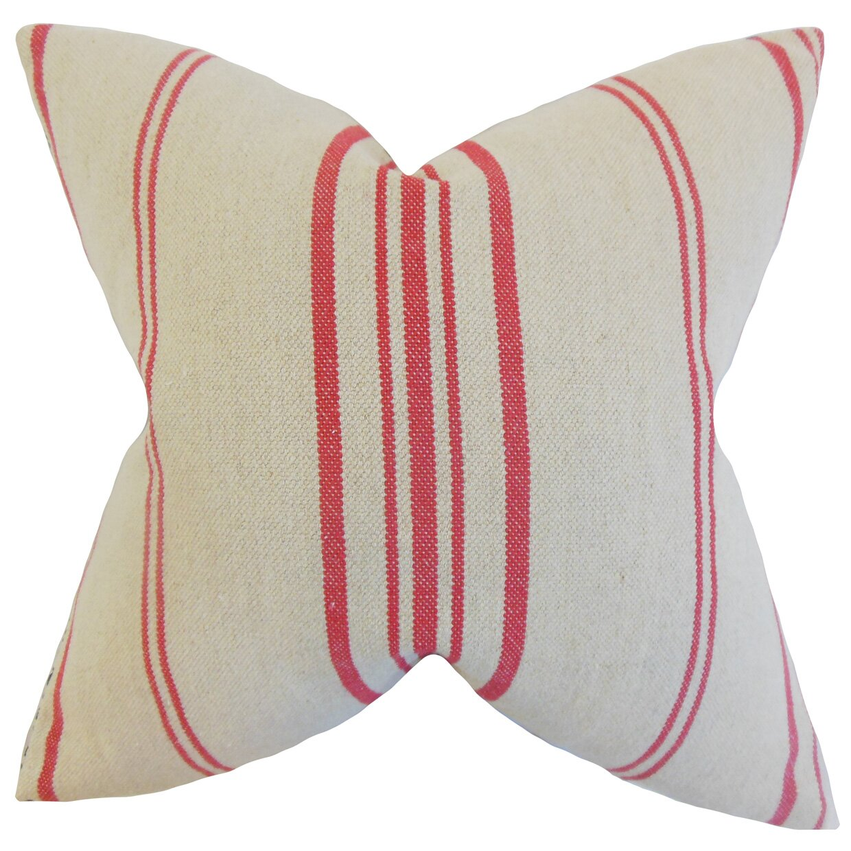Lilla Stripes Linen Throw Pillow Wayfair