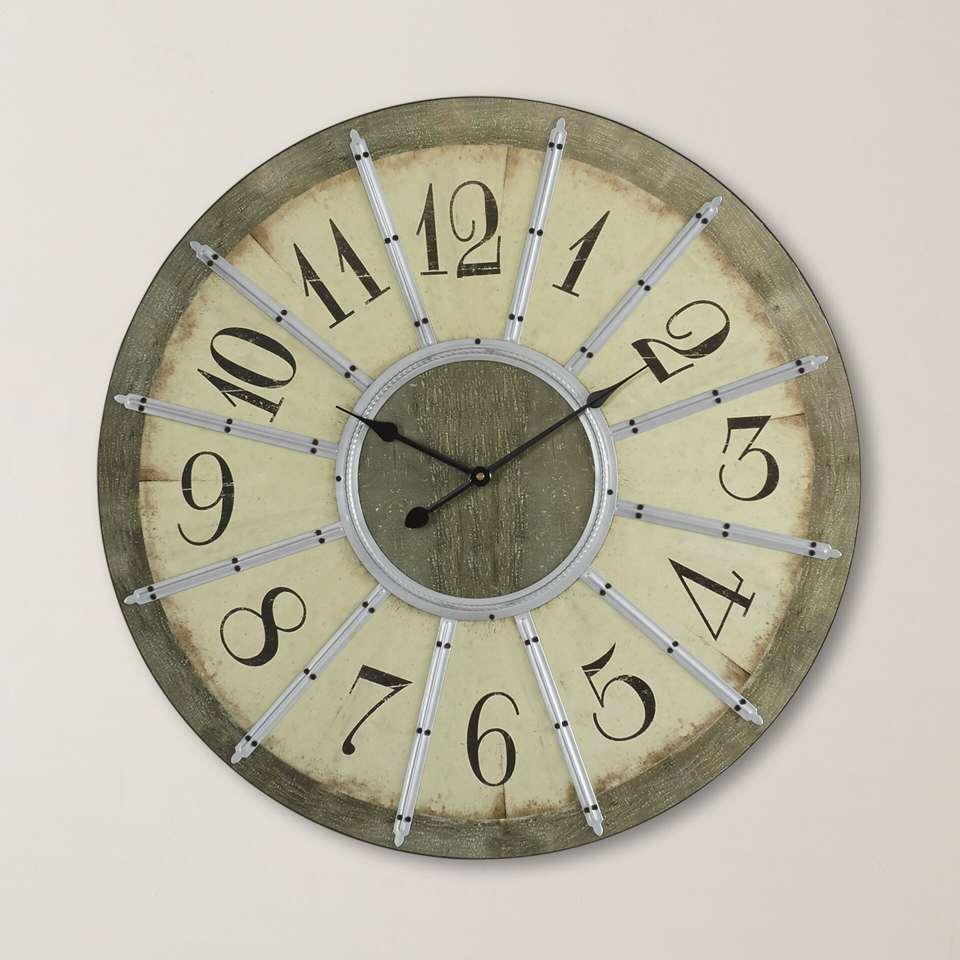 Donovan Oversized 23 Quot Wall Clock Wayfair