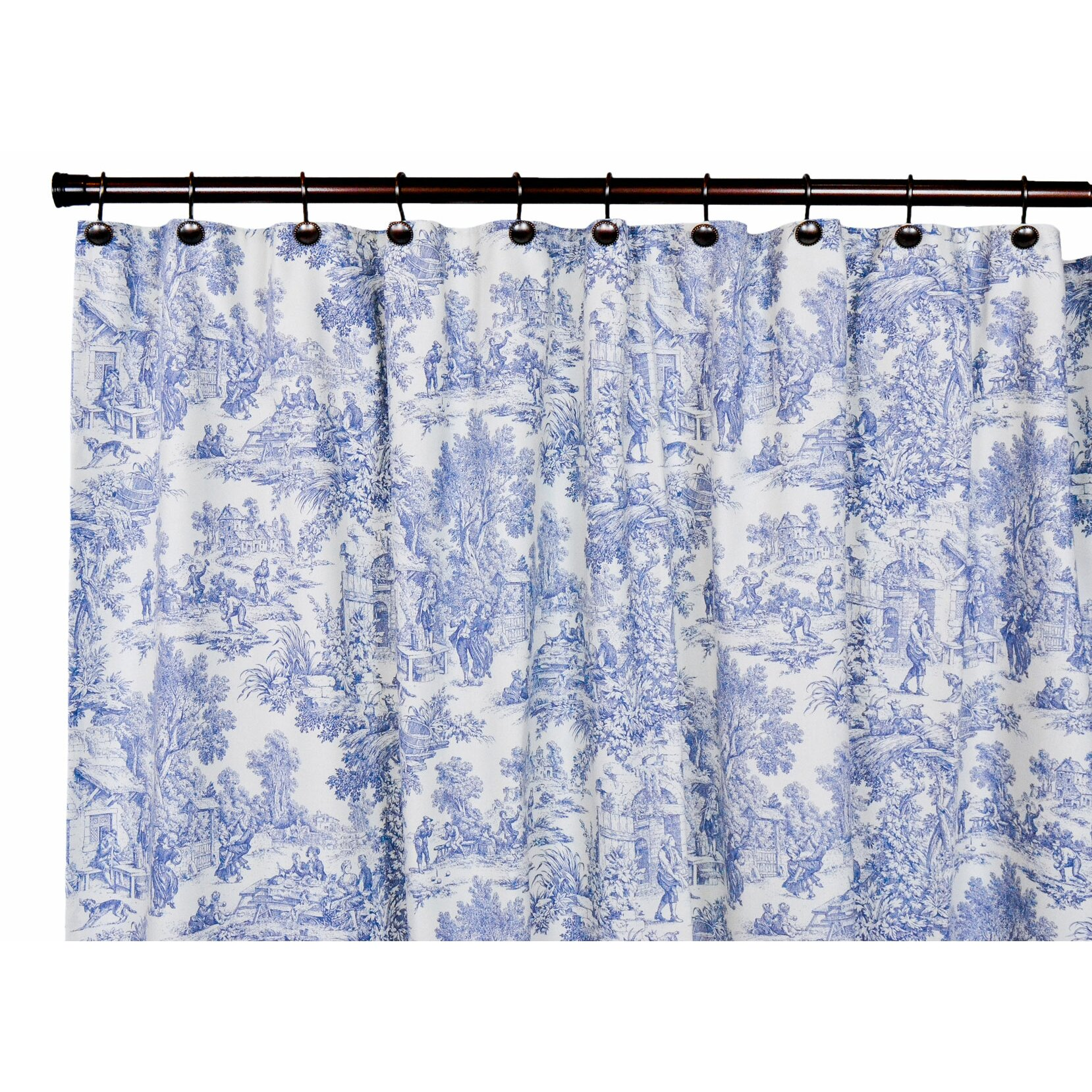 Yellow and blue shower curtain - Black Toile Curtains Yellow Shower Free Image