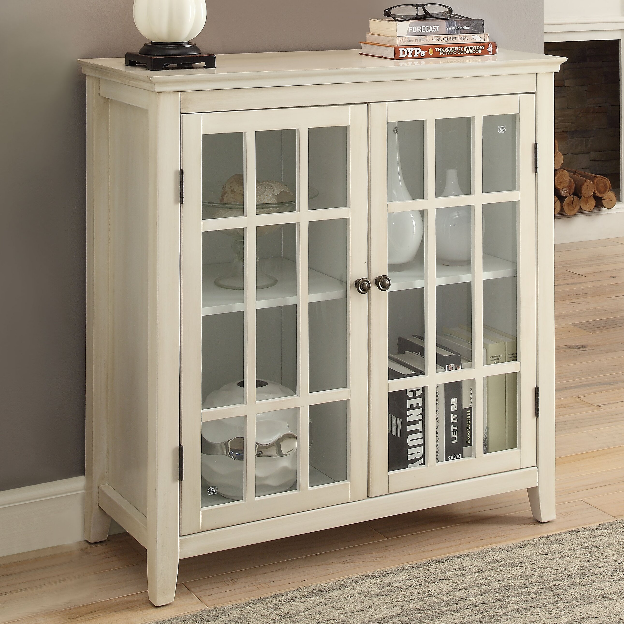 Beachcrest home naples park antique double door cabinet for One day doors and closets reviews