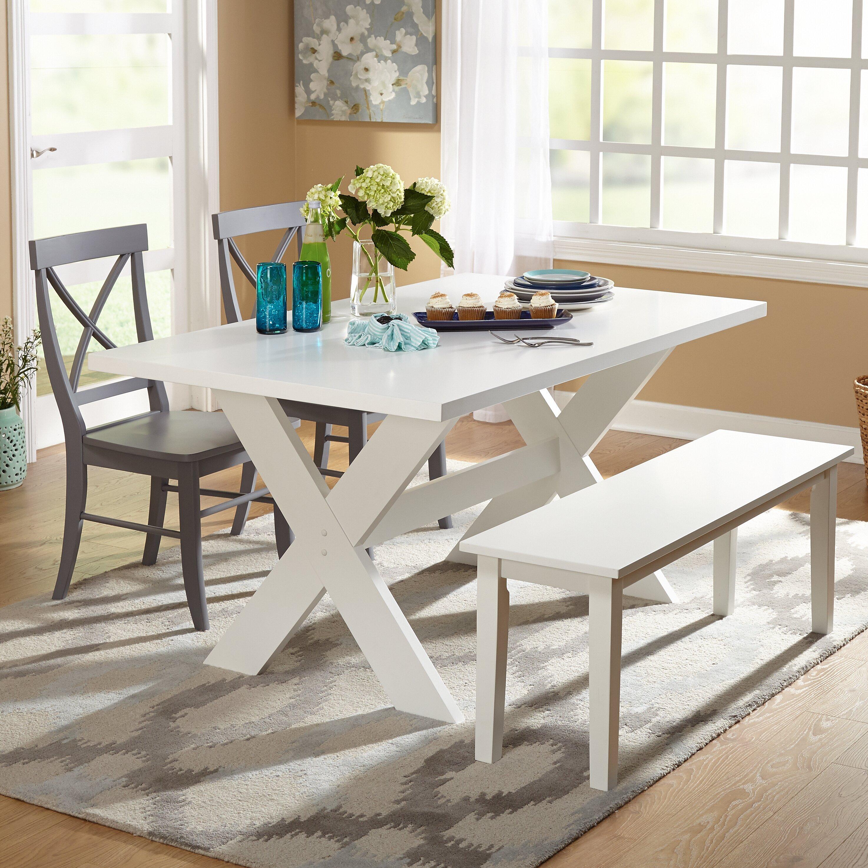 #137180 This Yearu0027s Beachcrest Home Medulla 4 Piece Dining Set U0026 Reviews  Wayfair Four Piece