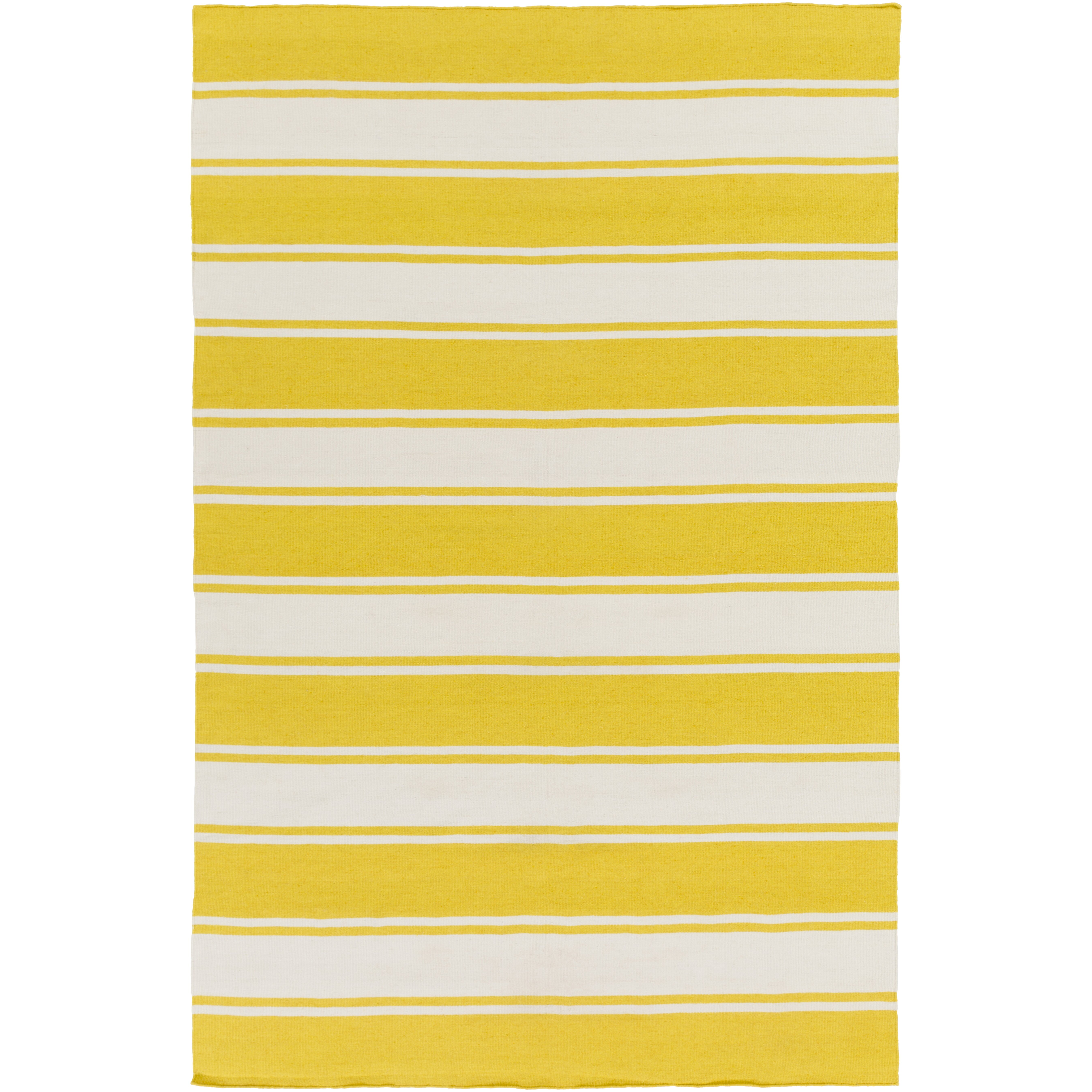 Three Lakes Hand Woven White Yellow Indoor Outdoor Area