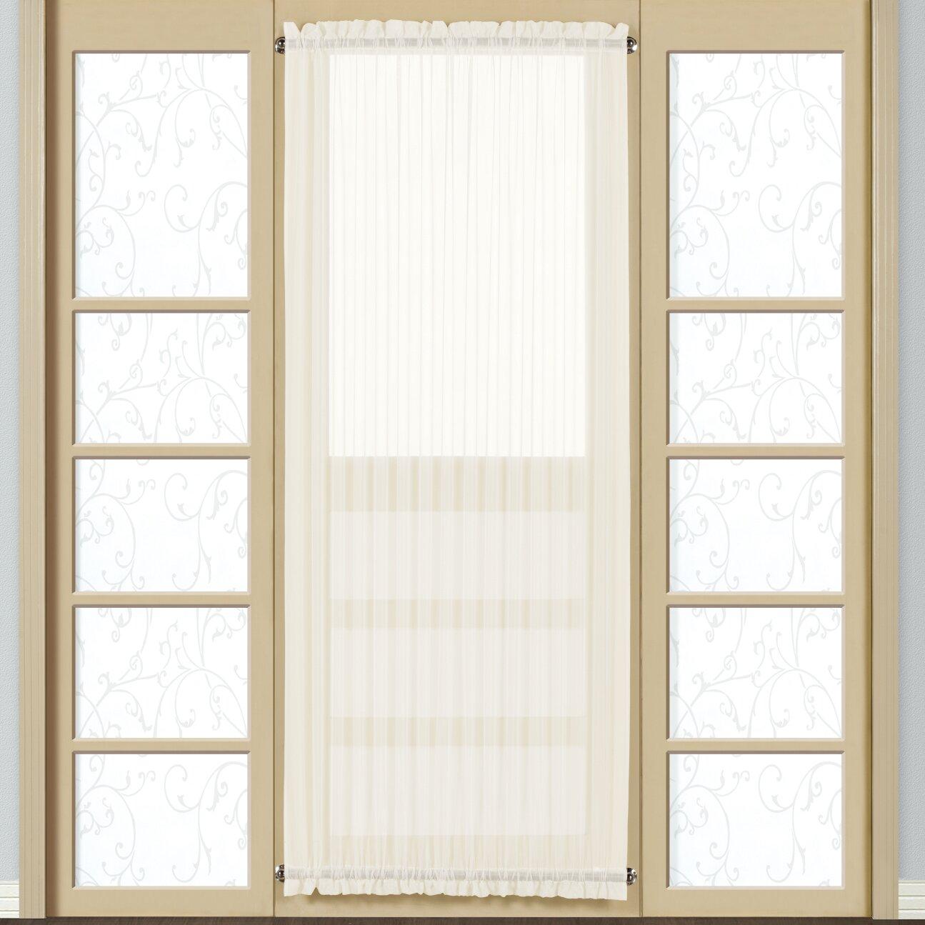 beachcrest home pellham door rod pocket sheer single curtain panel reviews wayfair. Black Bedroom Furniture Sets. Home Design Ideas