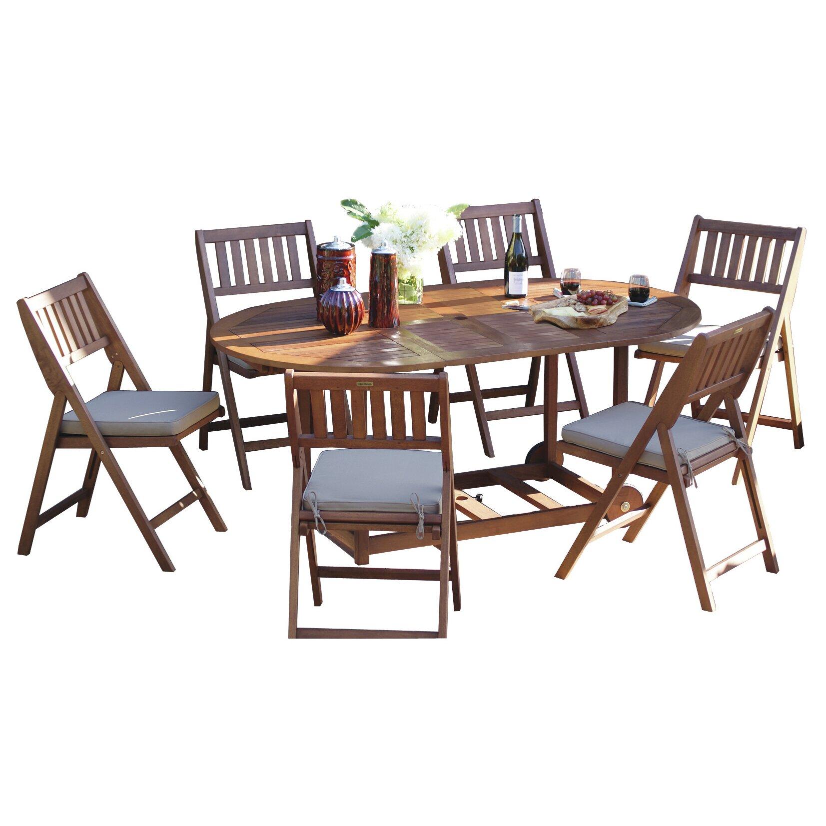 7 Piece Dining Set With Cushions Joss Main