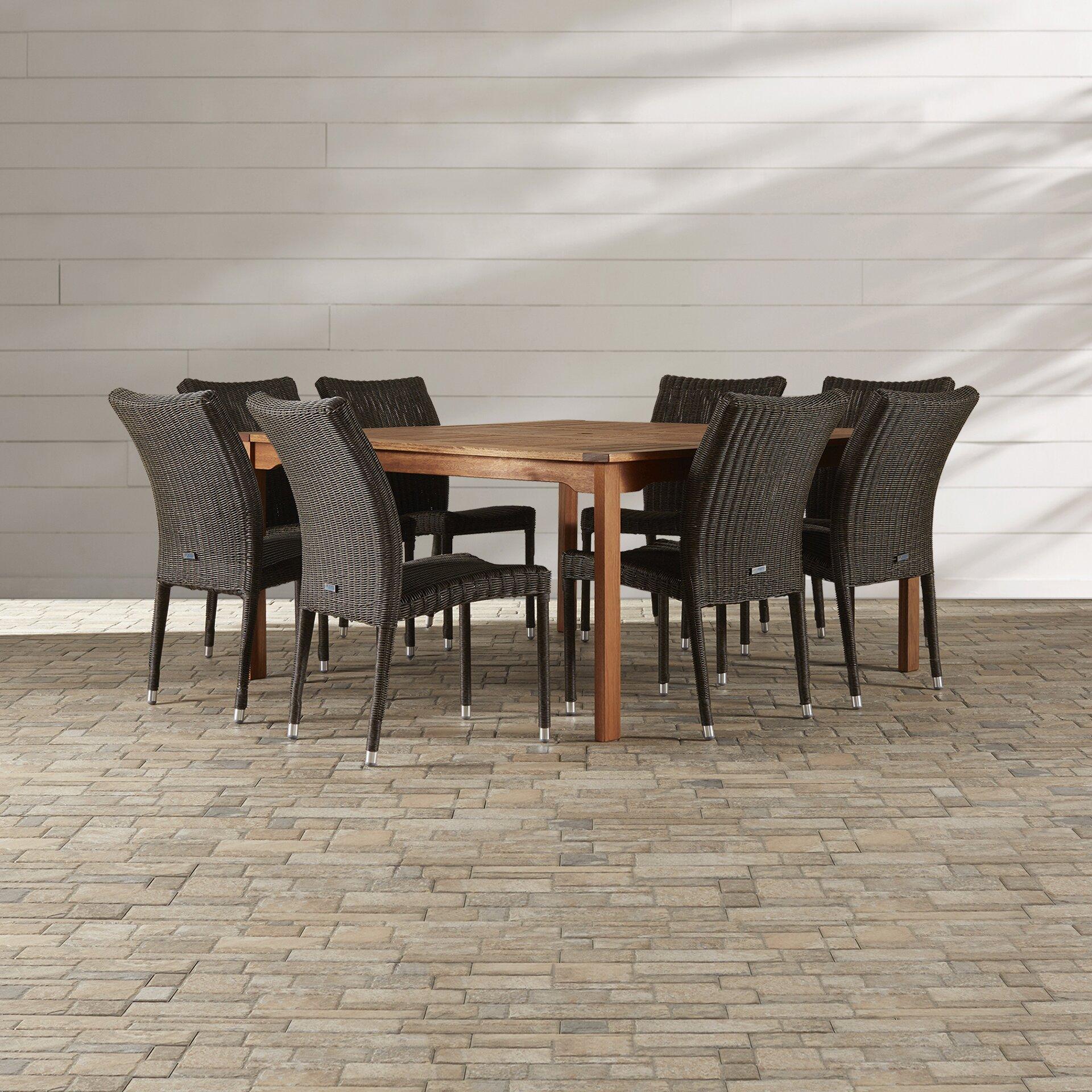 home brunswick 9 piece indoor outdoor dining set reviews wayfair