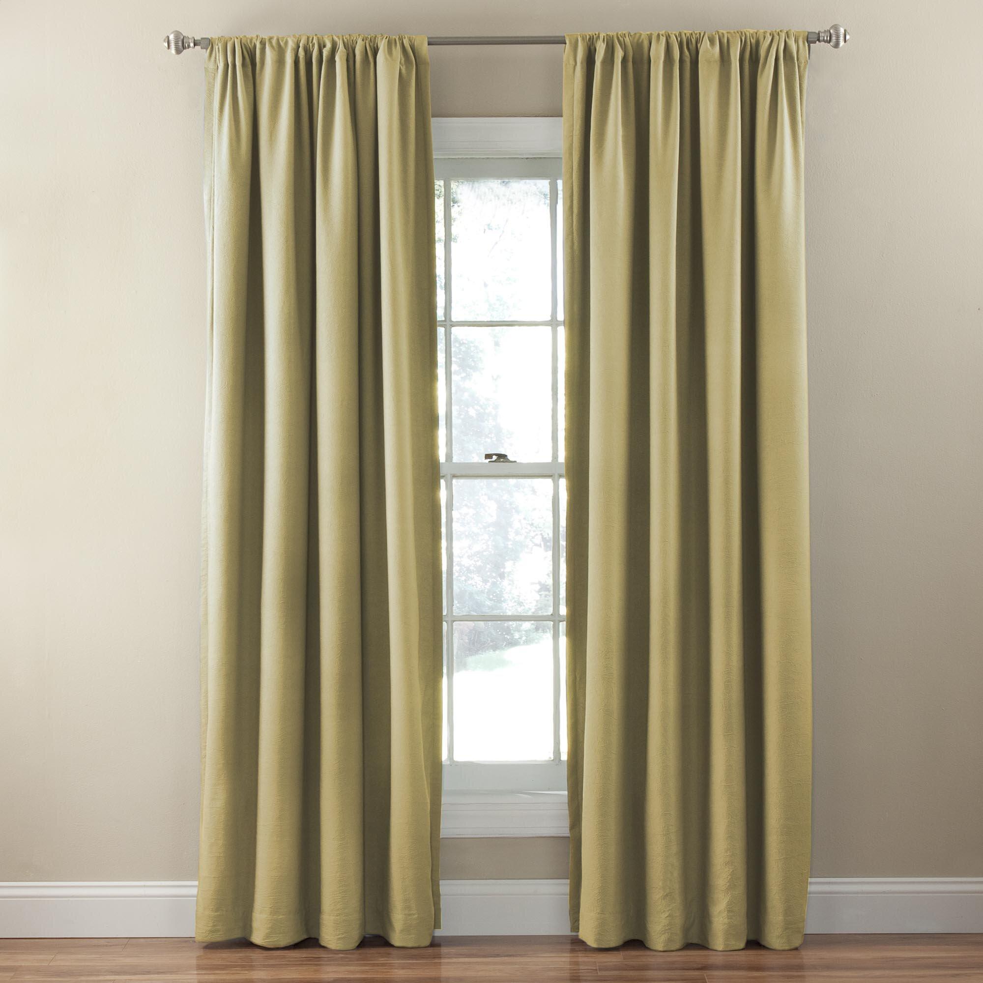 lura single blackout curtain panel wayfair
